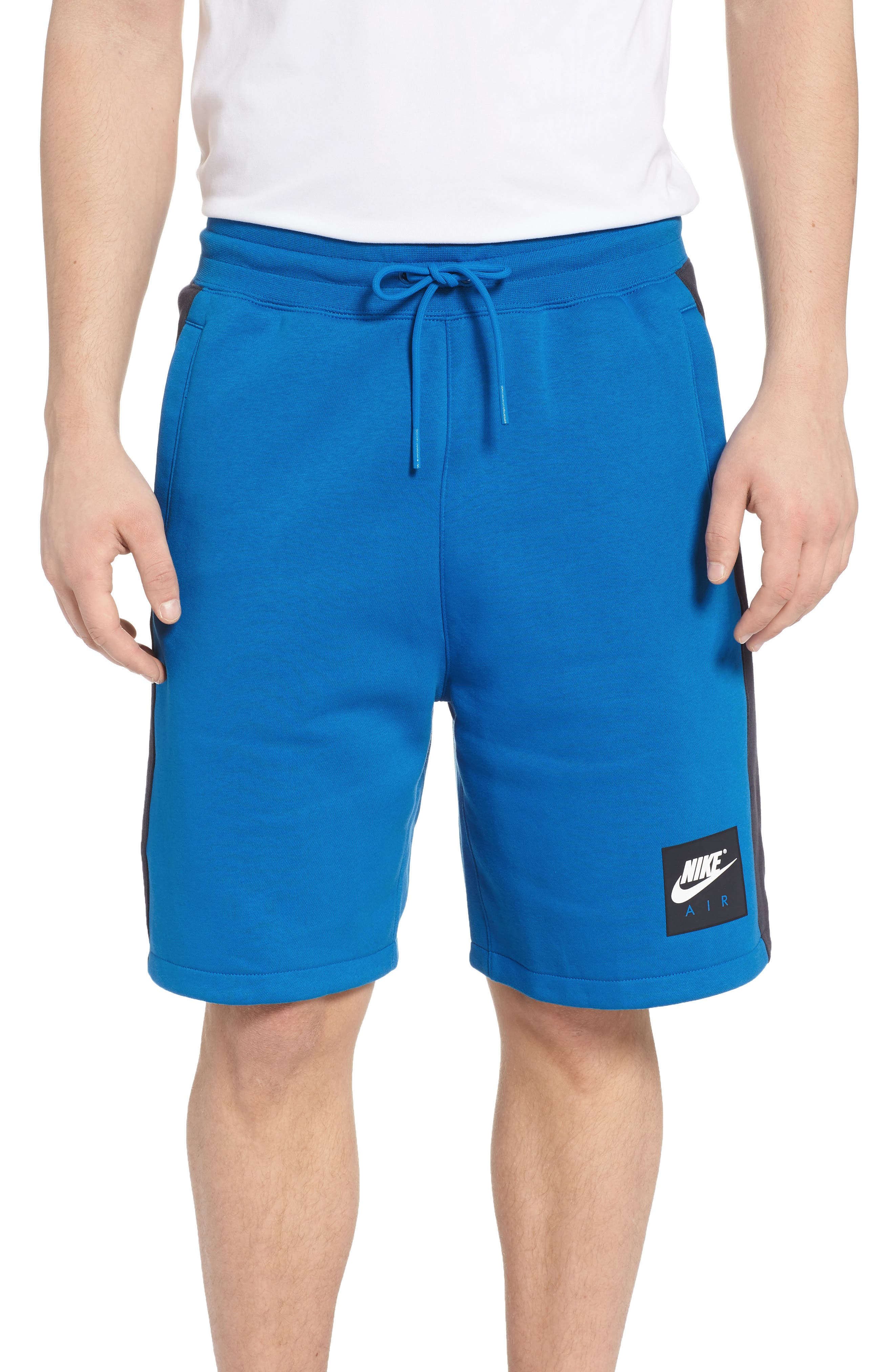 Sportswear Air Fleece Shorts,                         Main,                         color, Blue Nebula/ Anthracite/ White
