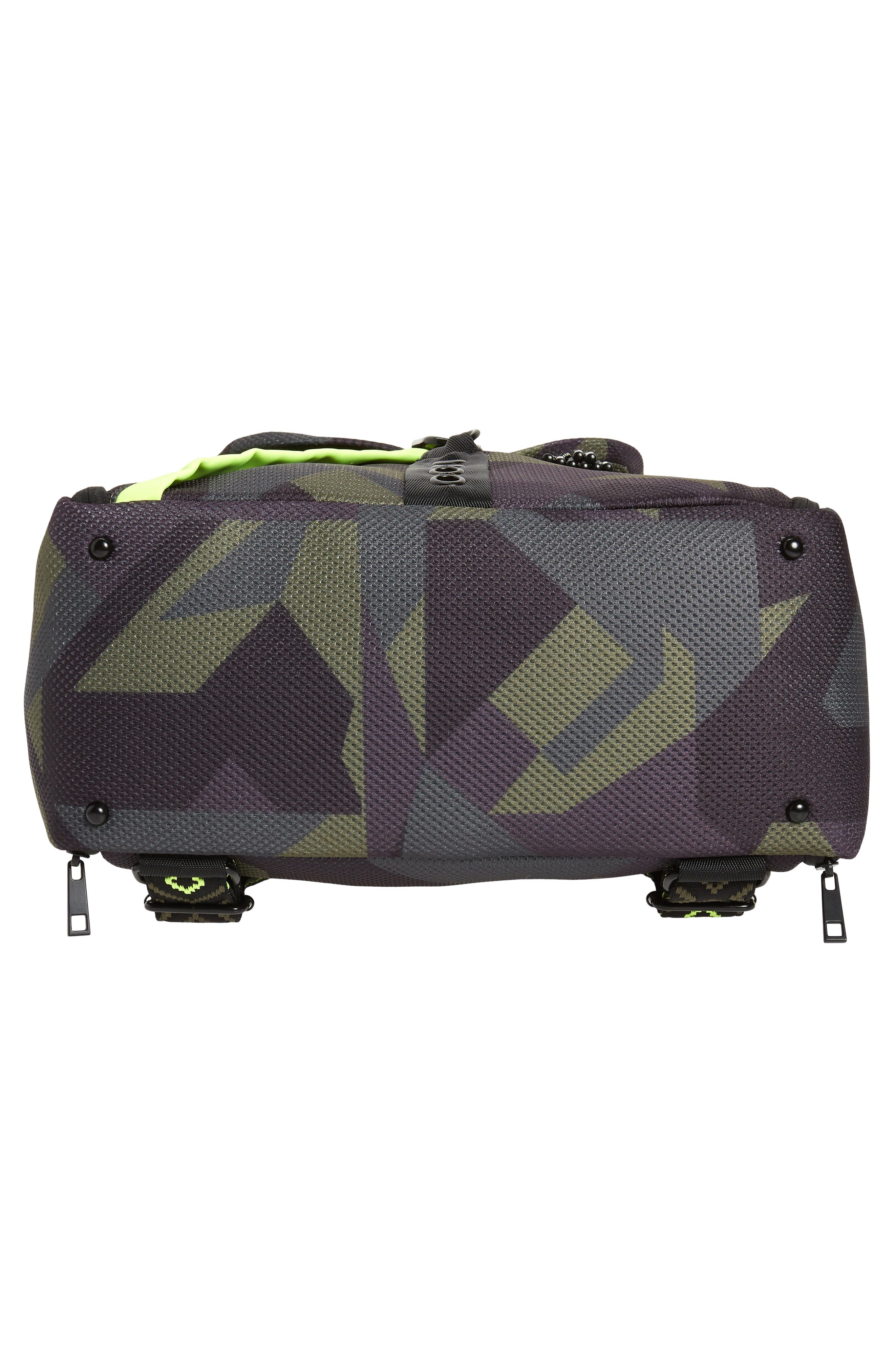 Water Resistant Backpack,                             Alternate thumbnail 6, color,                             Olive Camo