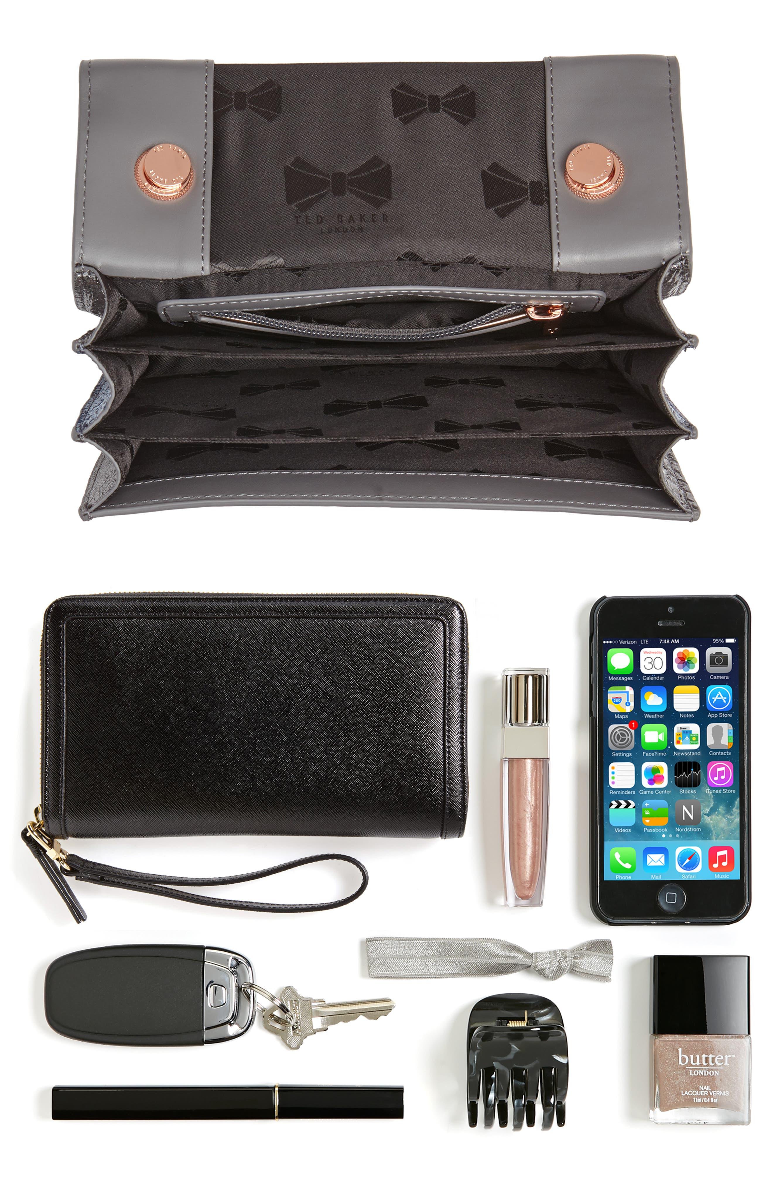 Earie Leather Crossbody Bag,                             Alternate thumbnail 7, color,