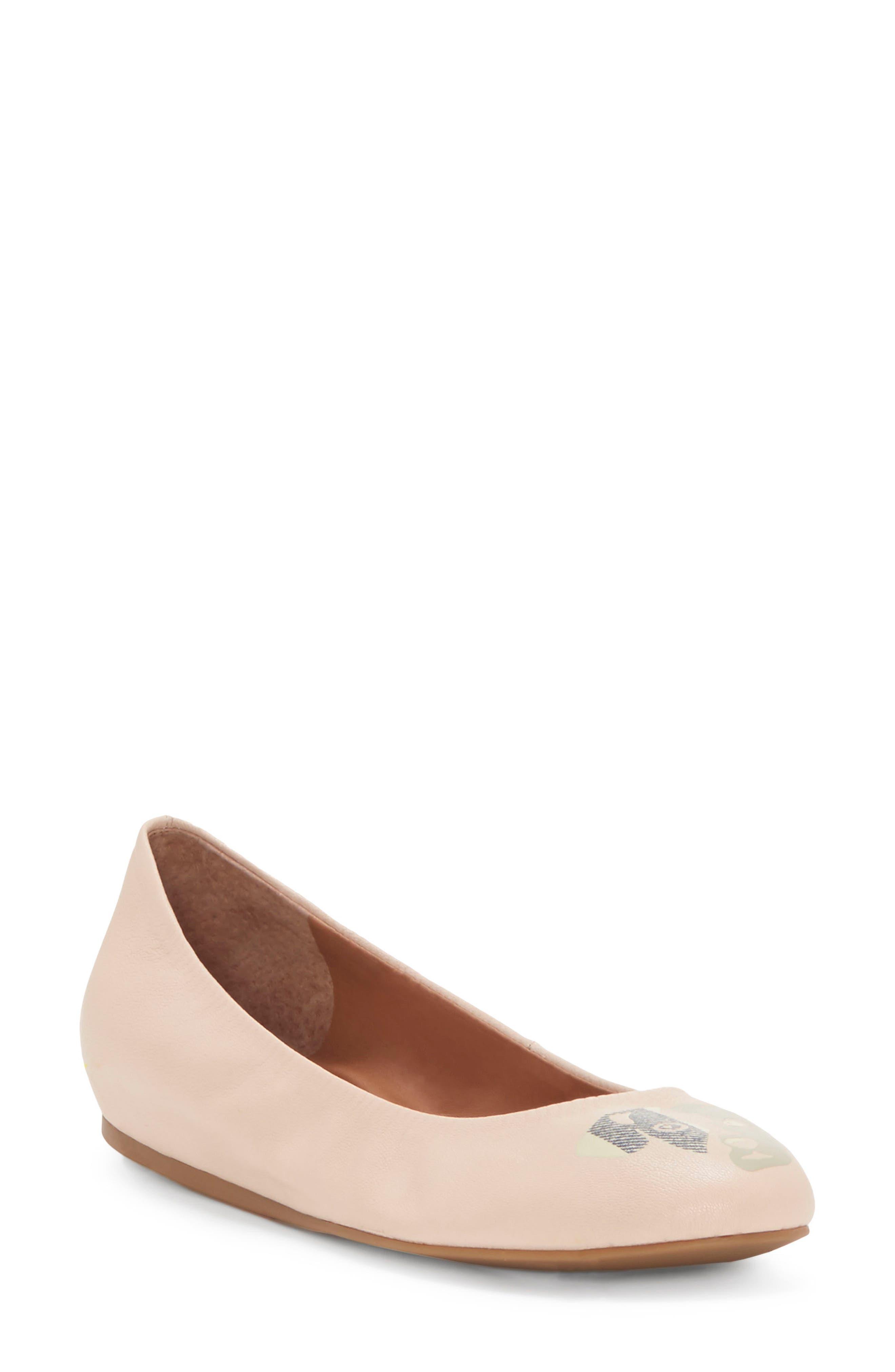 'Langston' Ballet Flat,                         Main,                         color, Misty Rose Leather