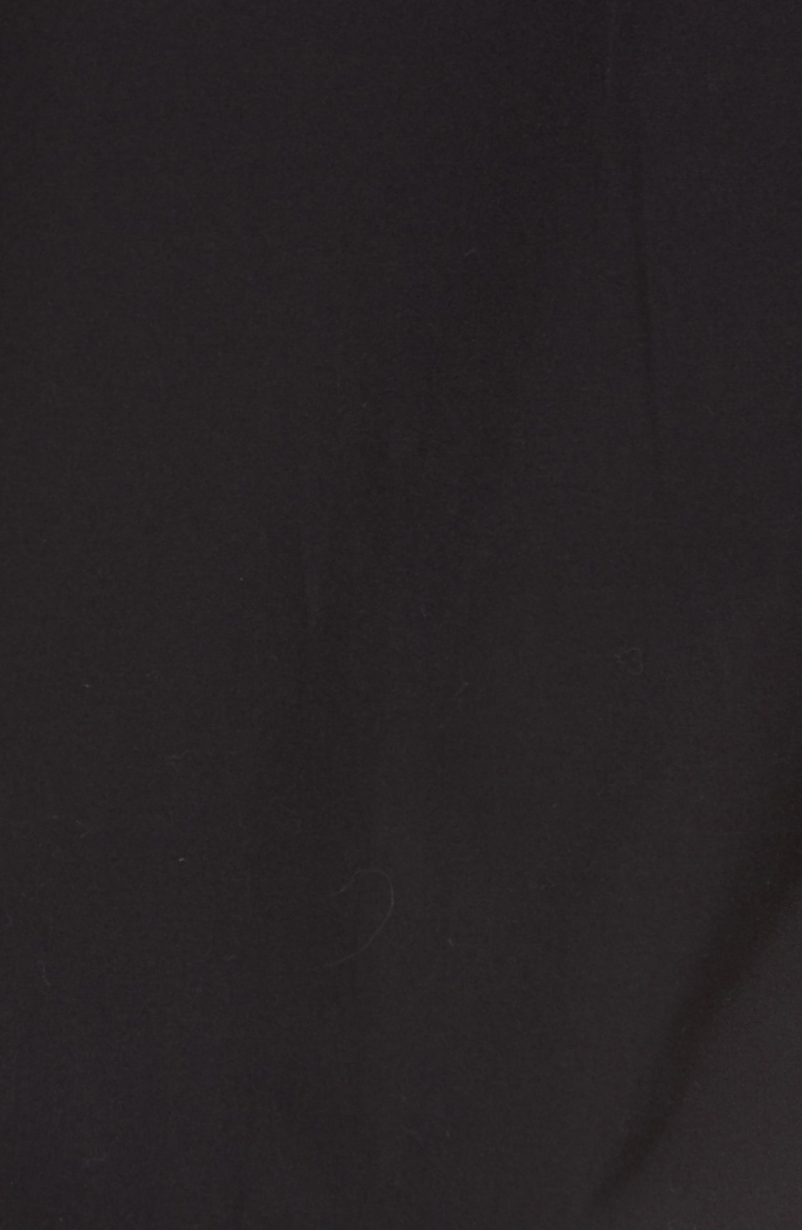 Ero Slim Fit Solid Cotton Sport Shirt,                             Alternate thumbnail 5, color,                             Black