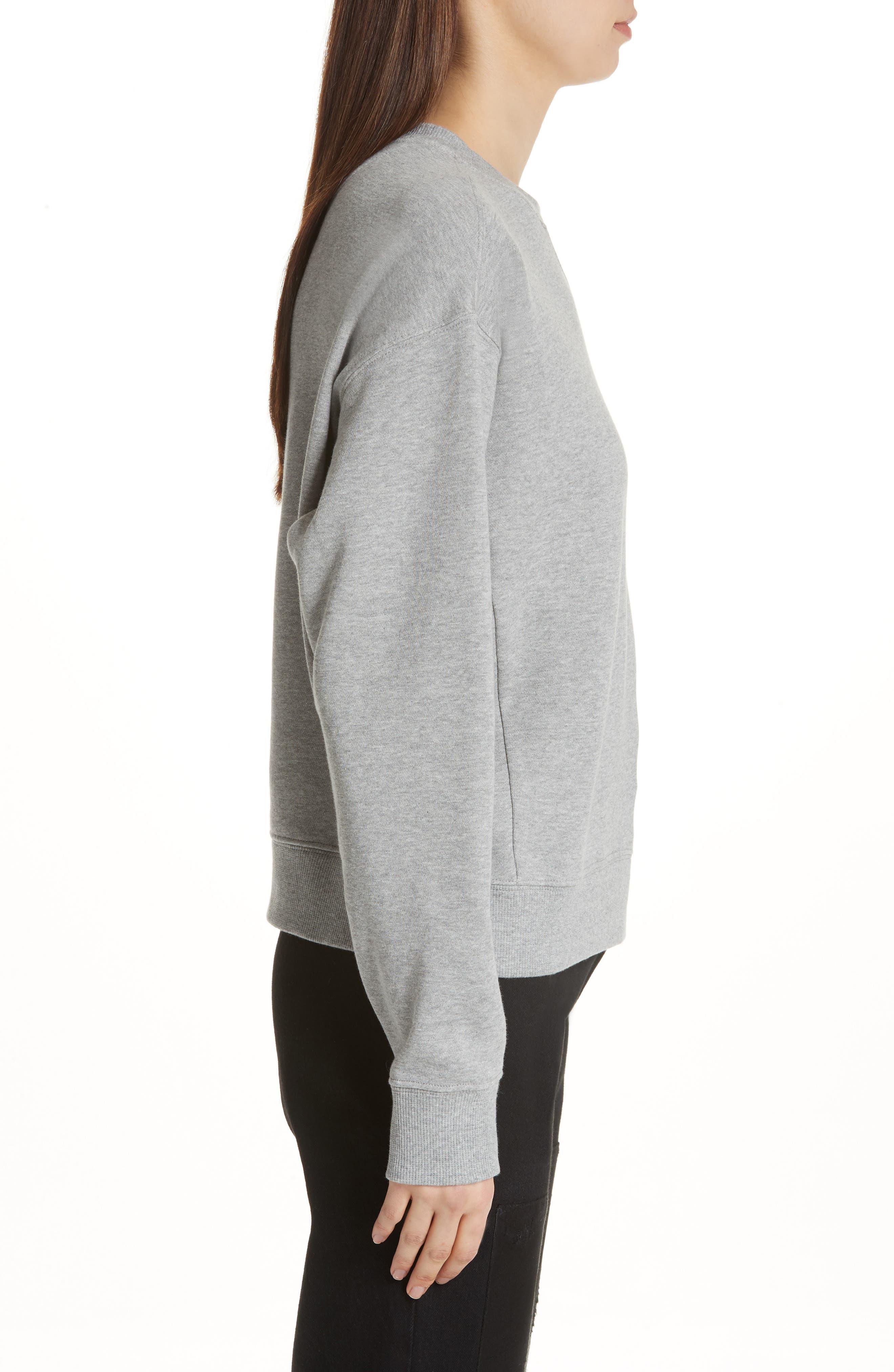 Brooke Shields Patch Sweatshirt,                             Alternate thumbnail 3, color,                             Grey
