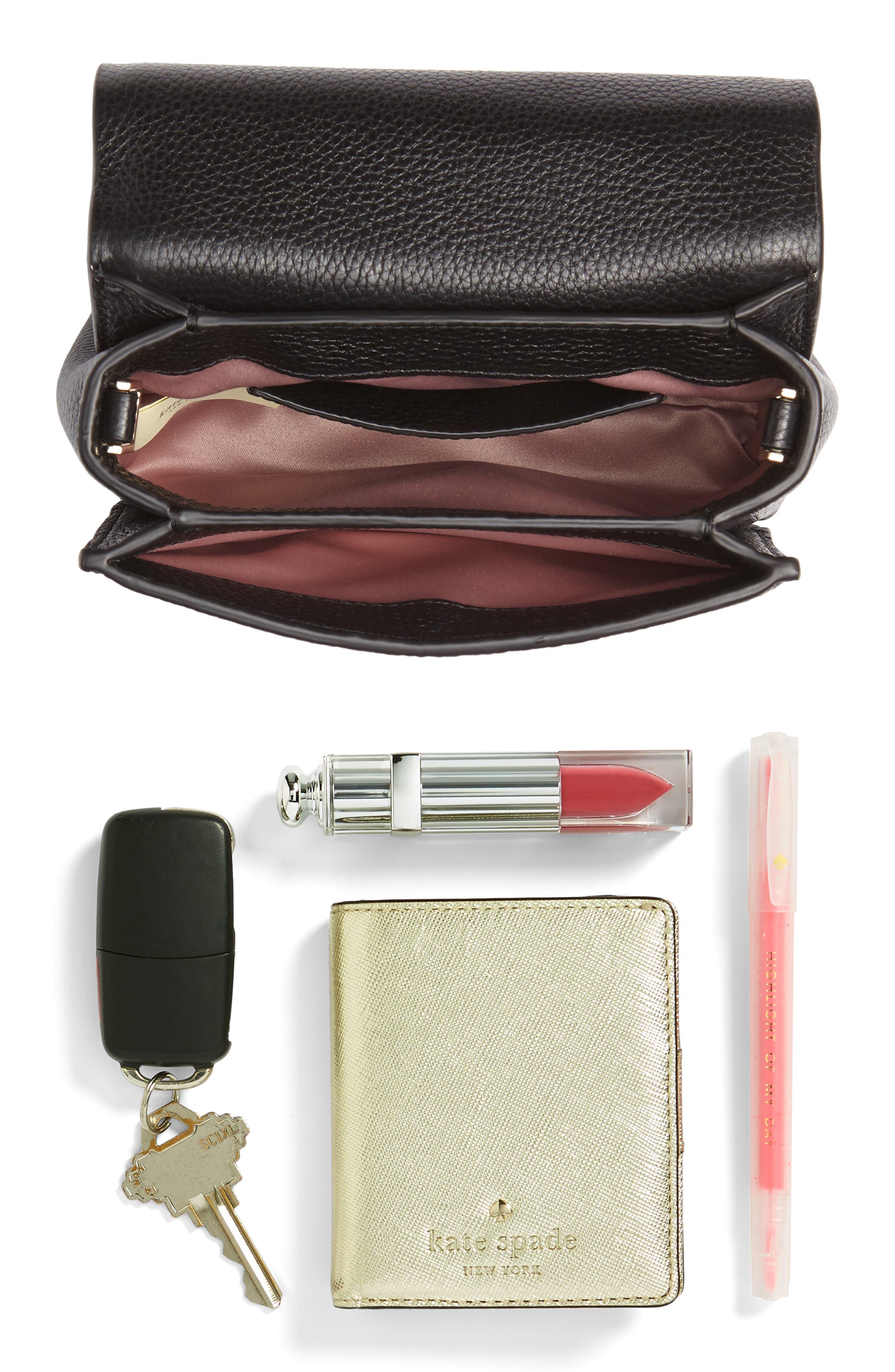 madison knollwood drive - hope leather crossbody bag,                             Alternate thumbnail 7, color,