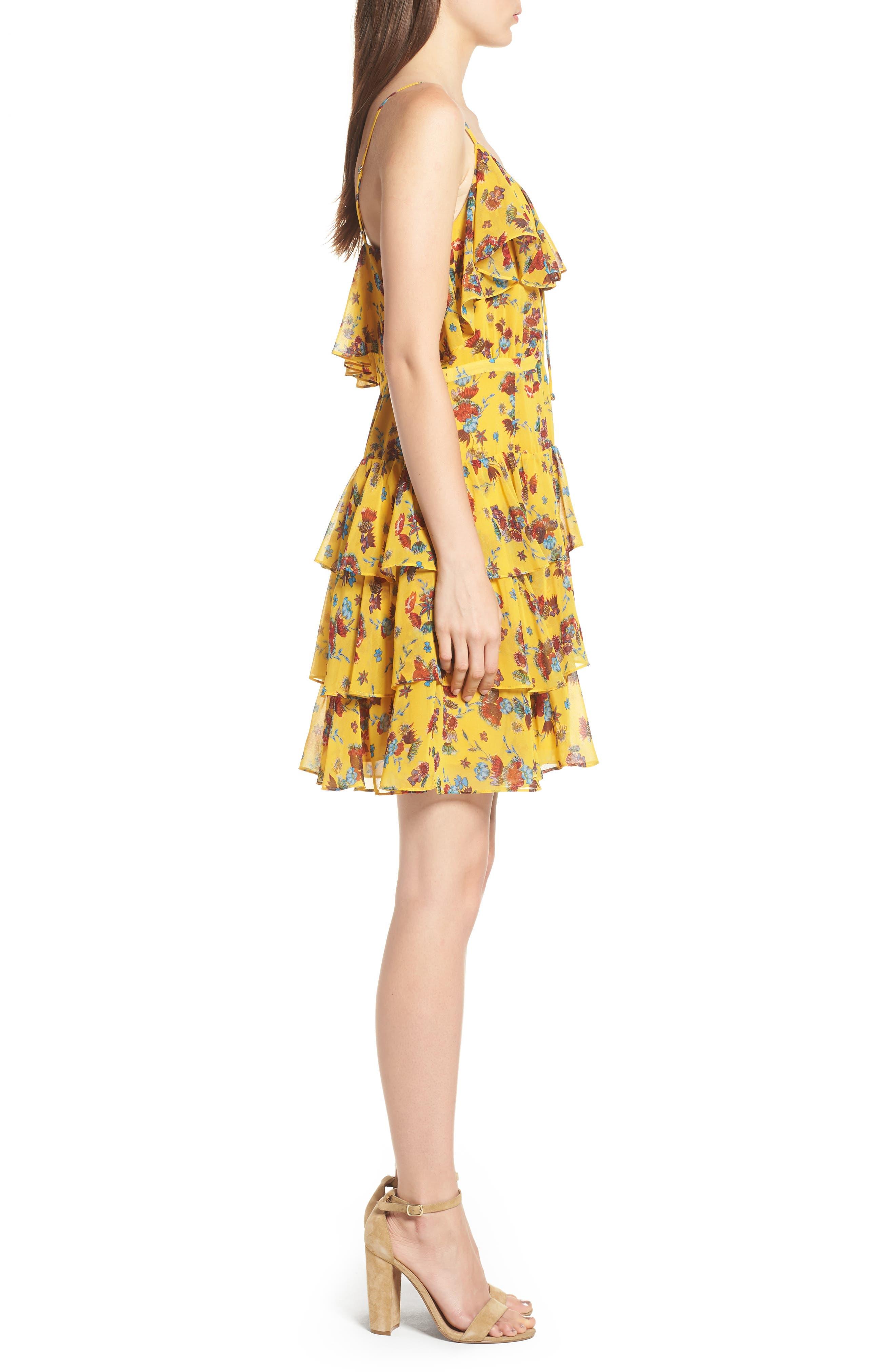 Marla Dress,                             Alternate thumbnail 3, color,                             Yellow Multi