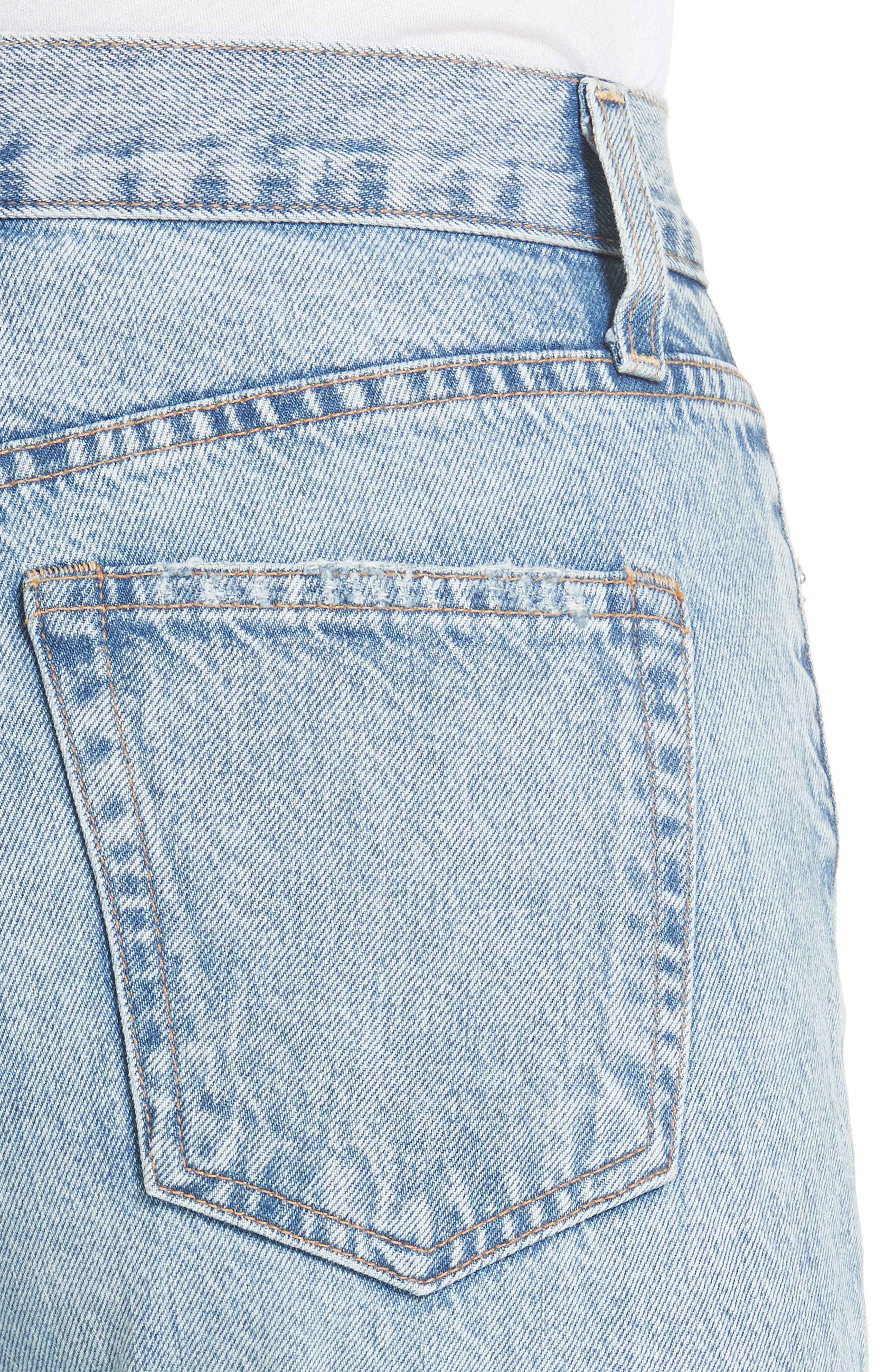 AO.LA Amazing Good Luck Slim Girlfriend Jeans,                             Alternate thumbnail 4, color,                             Out Of Sight/ Gold