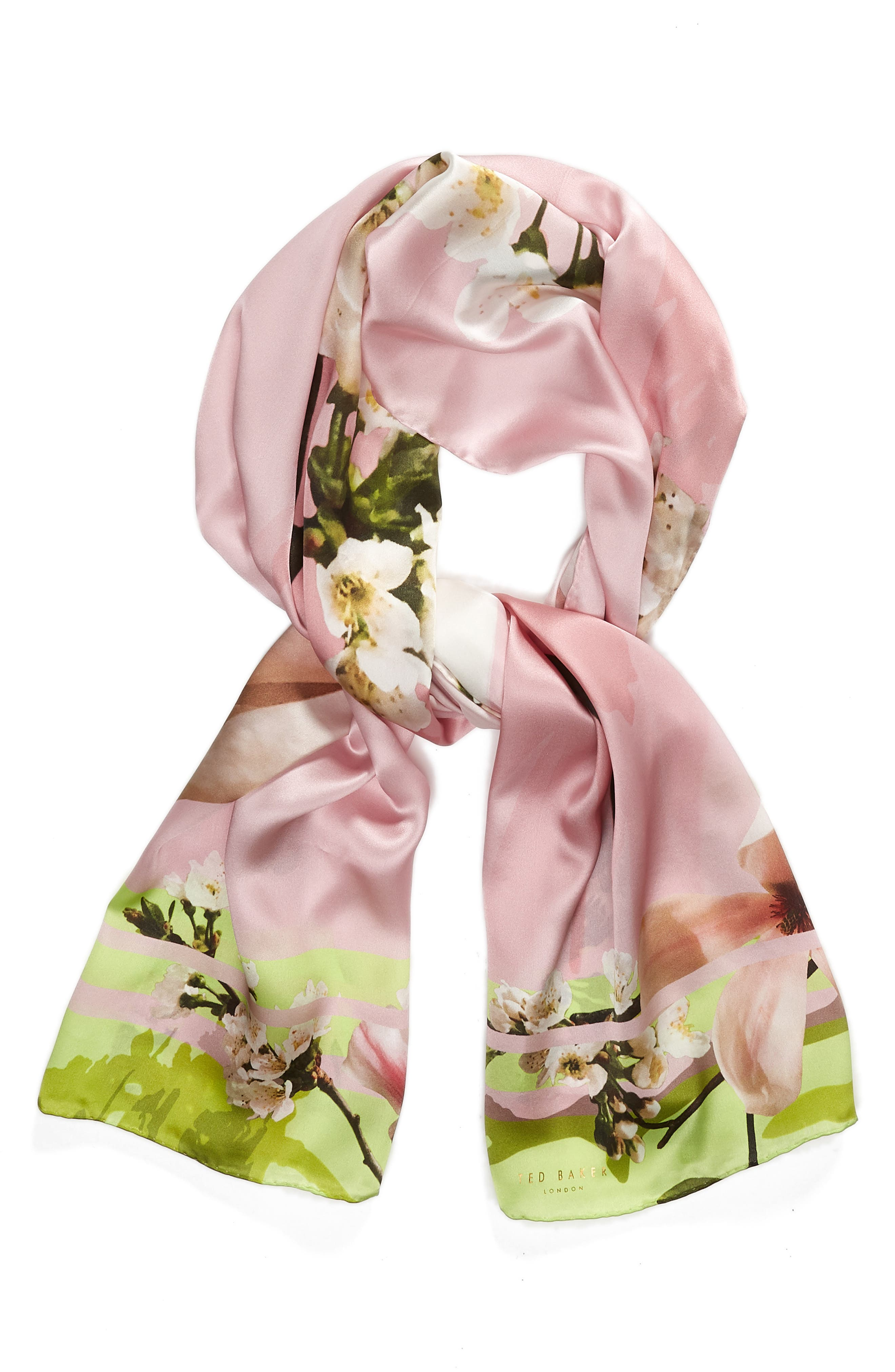 Harmony Silk Scarf,                             Alternate thumbnail 2, color,                             Pale Pink