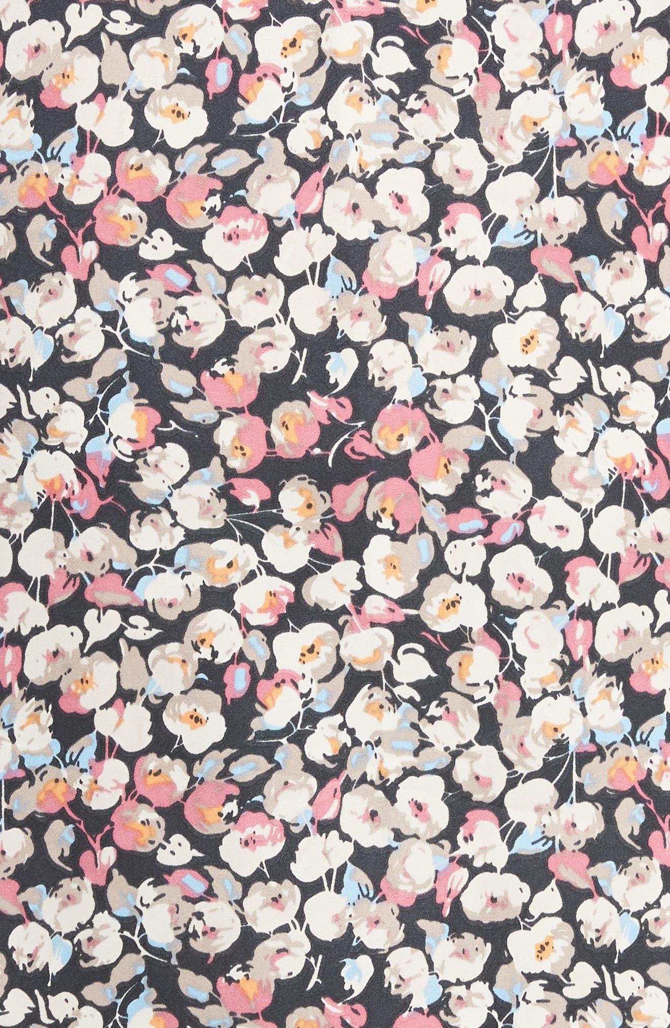 Floral Blouson Sleeve Blouse,                             Alternate thumbnail 6, color,                             B244n Mauve