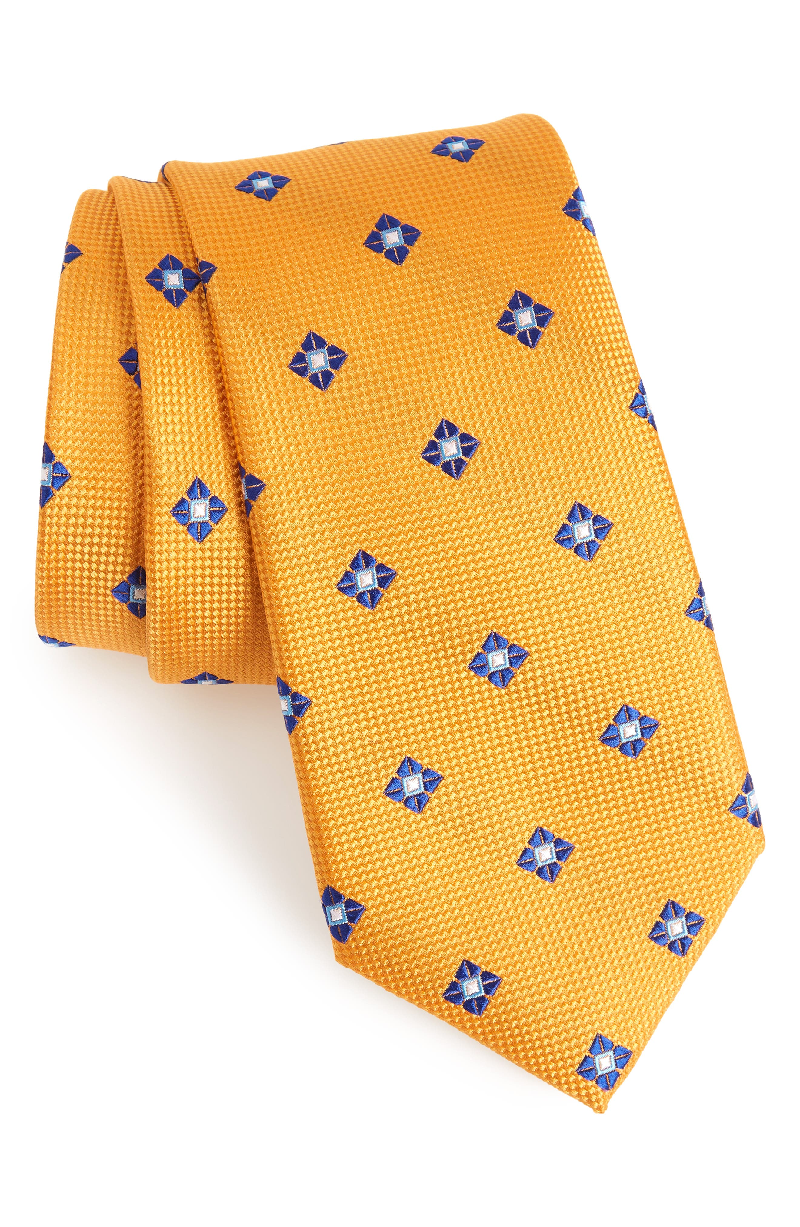 Nordstrom Men's Shop Oxford Medallion Silk Tie