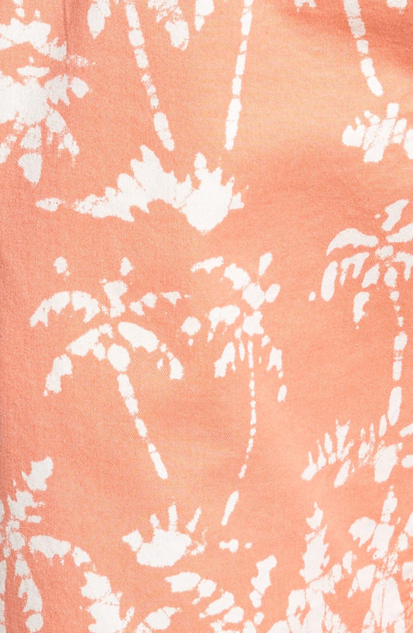 Print Beach Shorts,                             Alternate thumbnail 5, color,                             Batik Palms Himalayan Salt