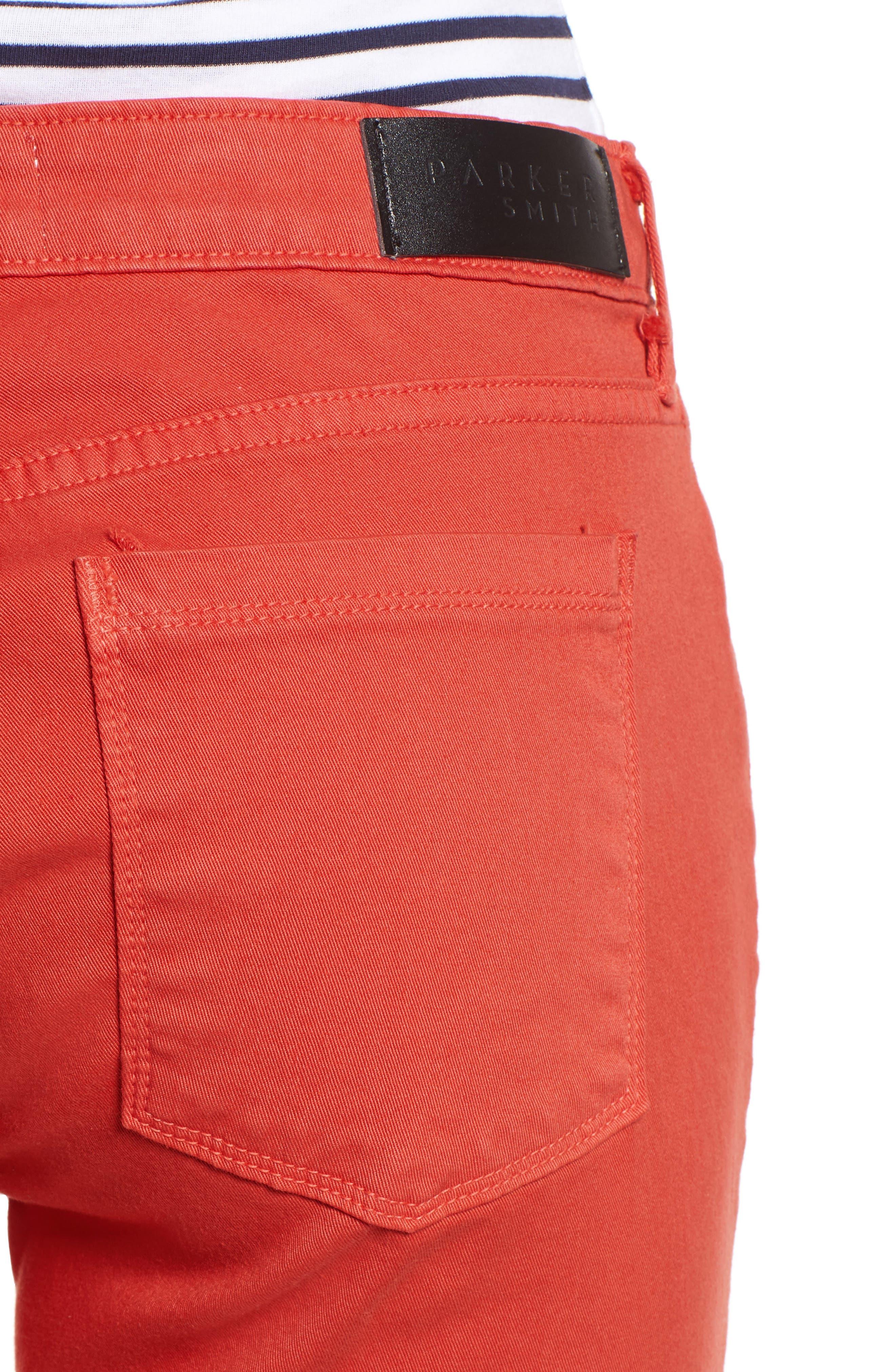 Pedal Pusher Crop Jeans,                             Alternate thumbnail 4, color,                             Sunburst