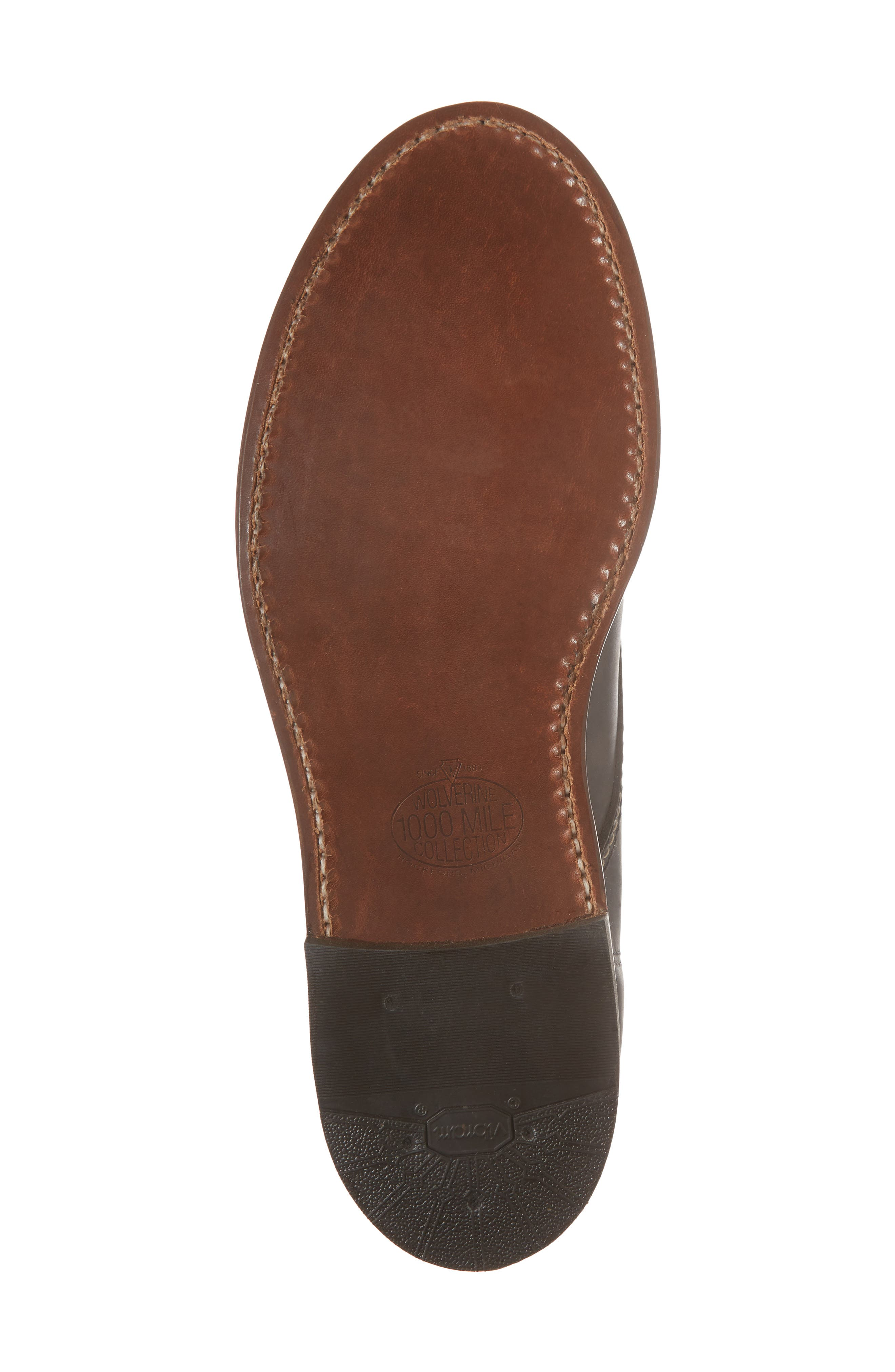 '1000 Mile' Plain Toe Boot,                             Alternate thumbnail 7, color,                             Charcoal