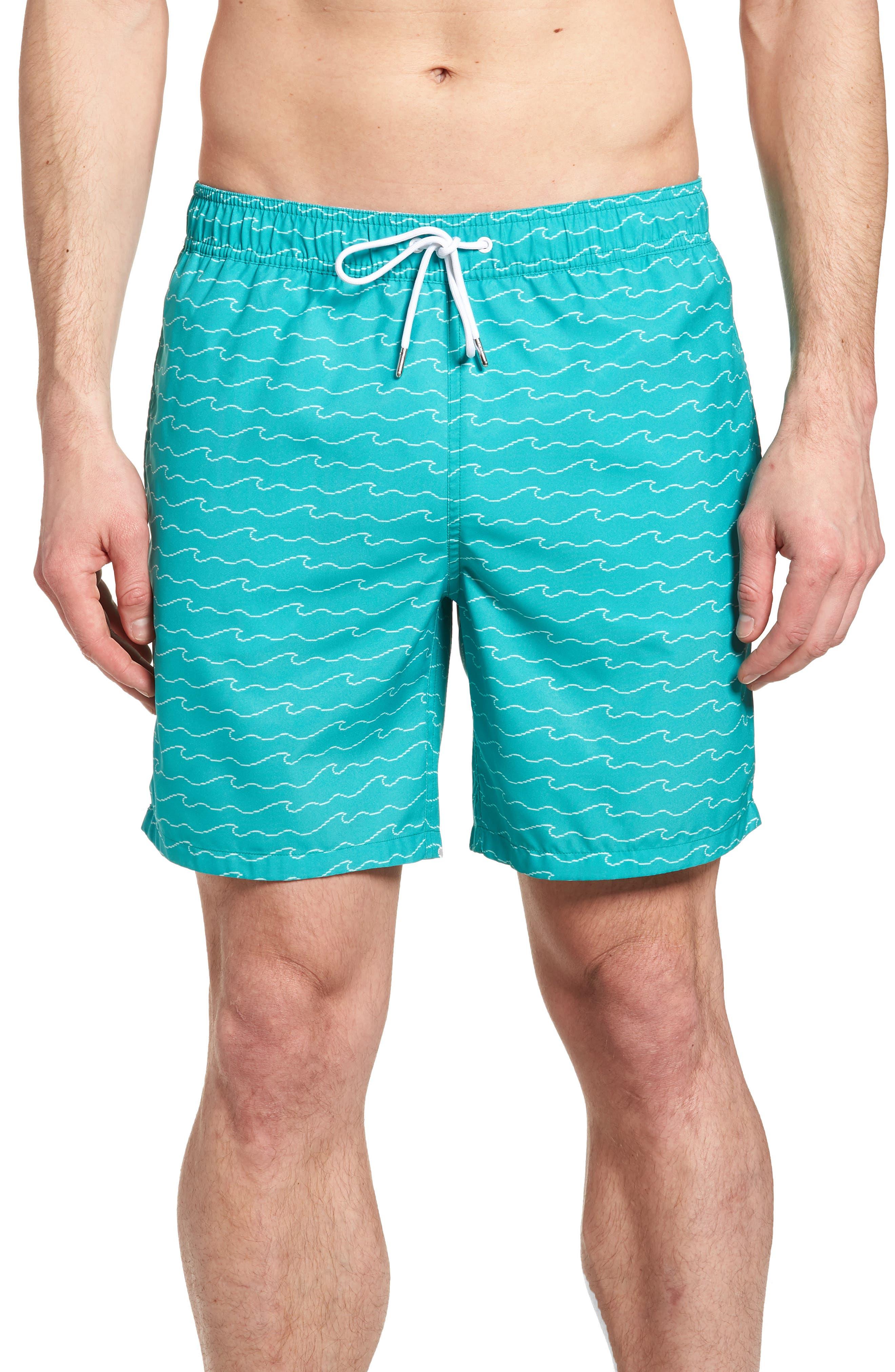Banzai 7-Inch Swim Trunks,                         Main,                         color, Digital Wave