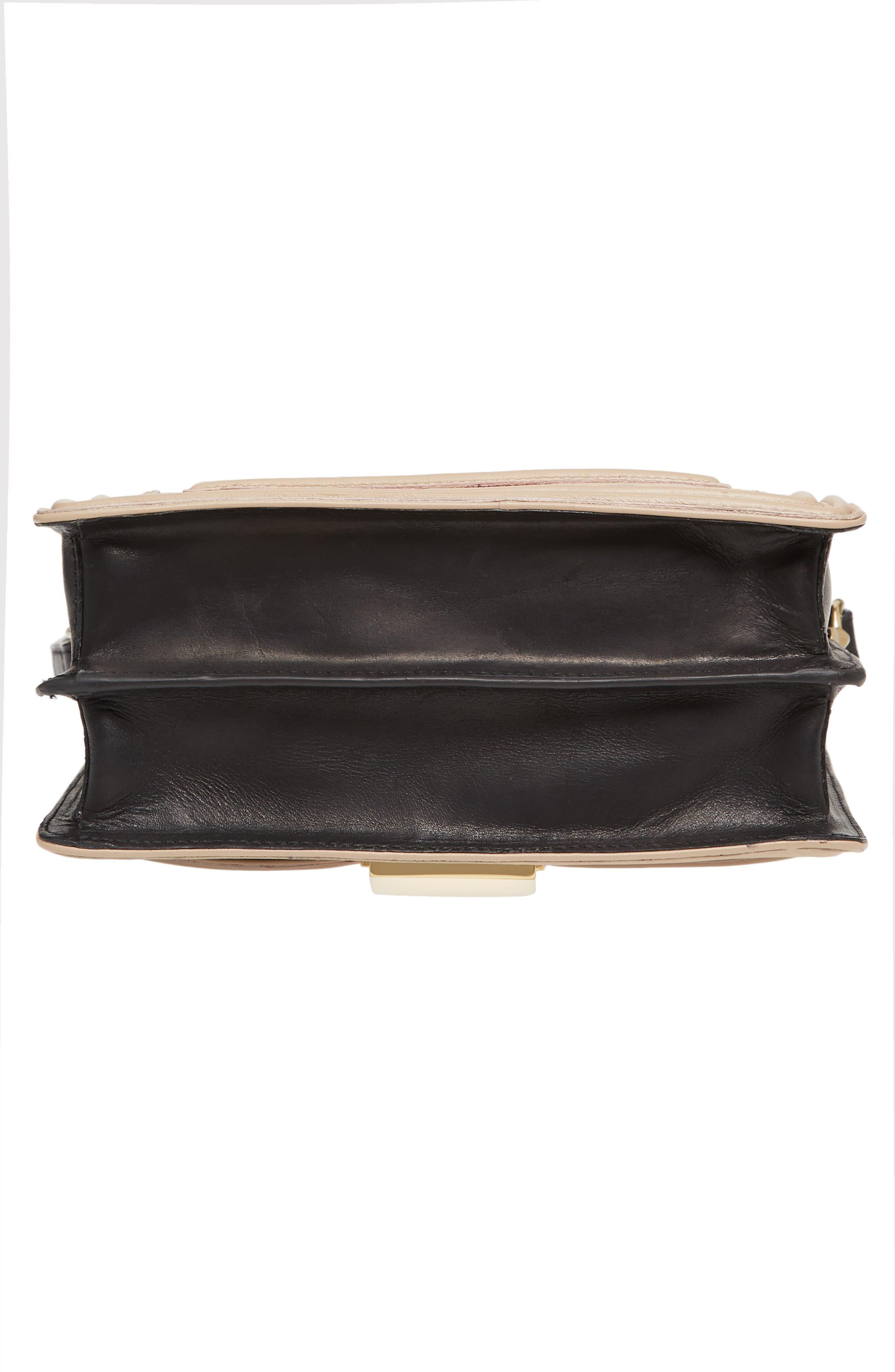 Small Square Top Handle Handbag,                             Alternate thumbnail 6, color,                             Black