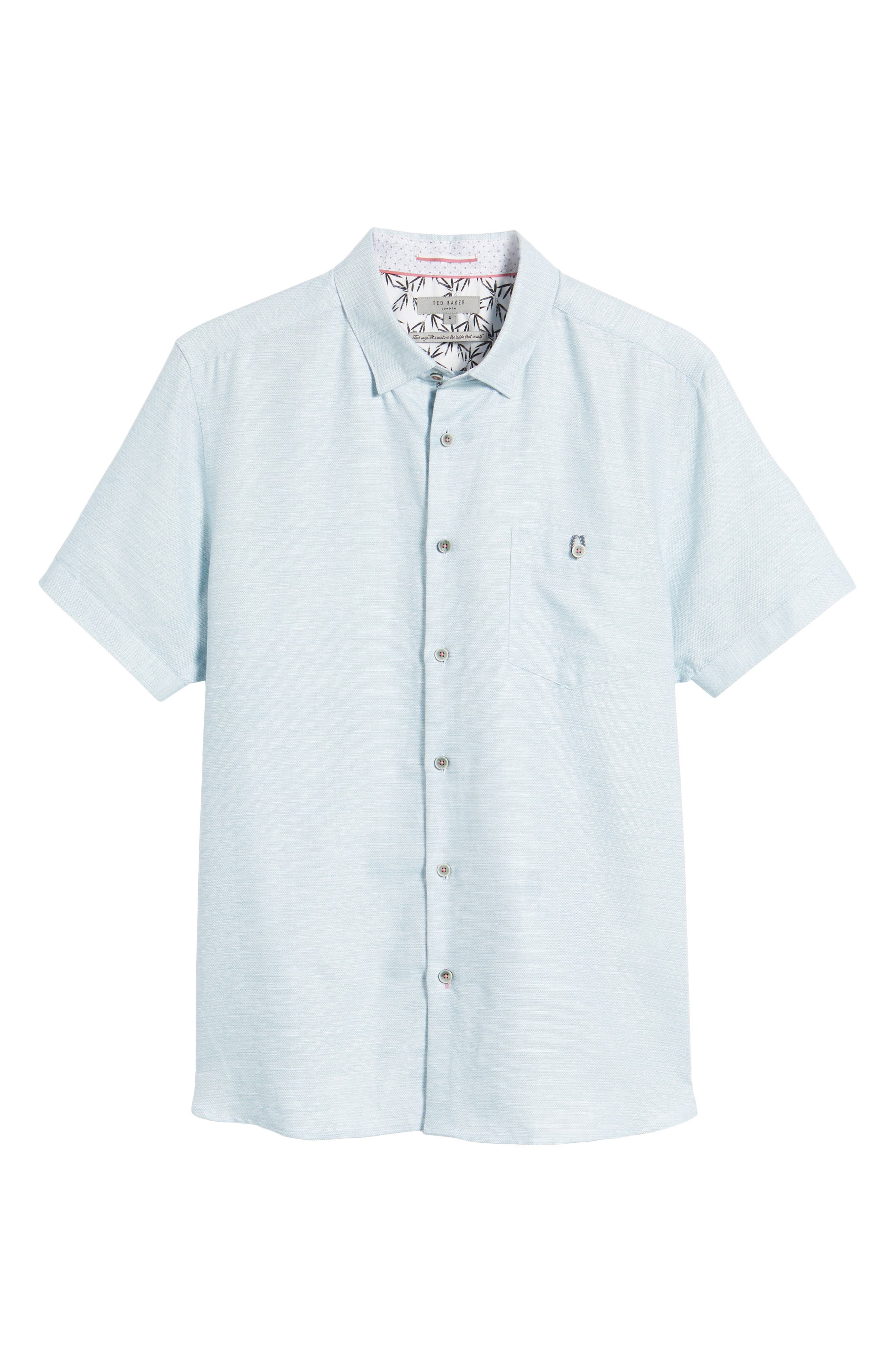 Peezett Short Sleeve Sport Shirt,                             Alternate thumbnail 6, color,                             Green