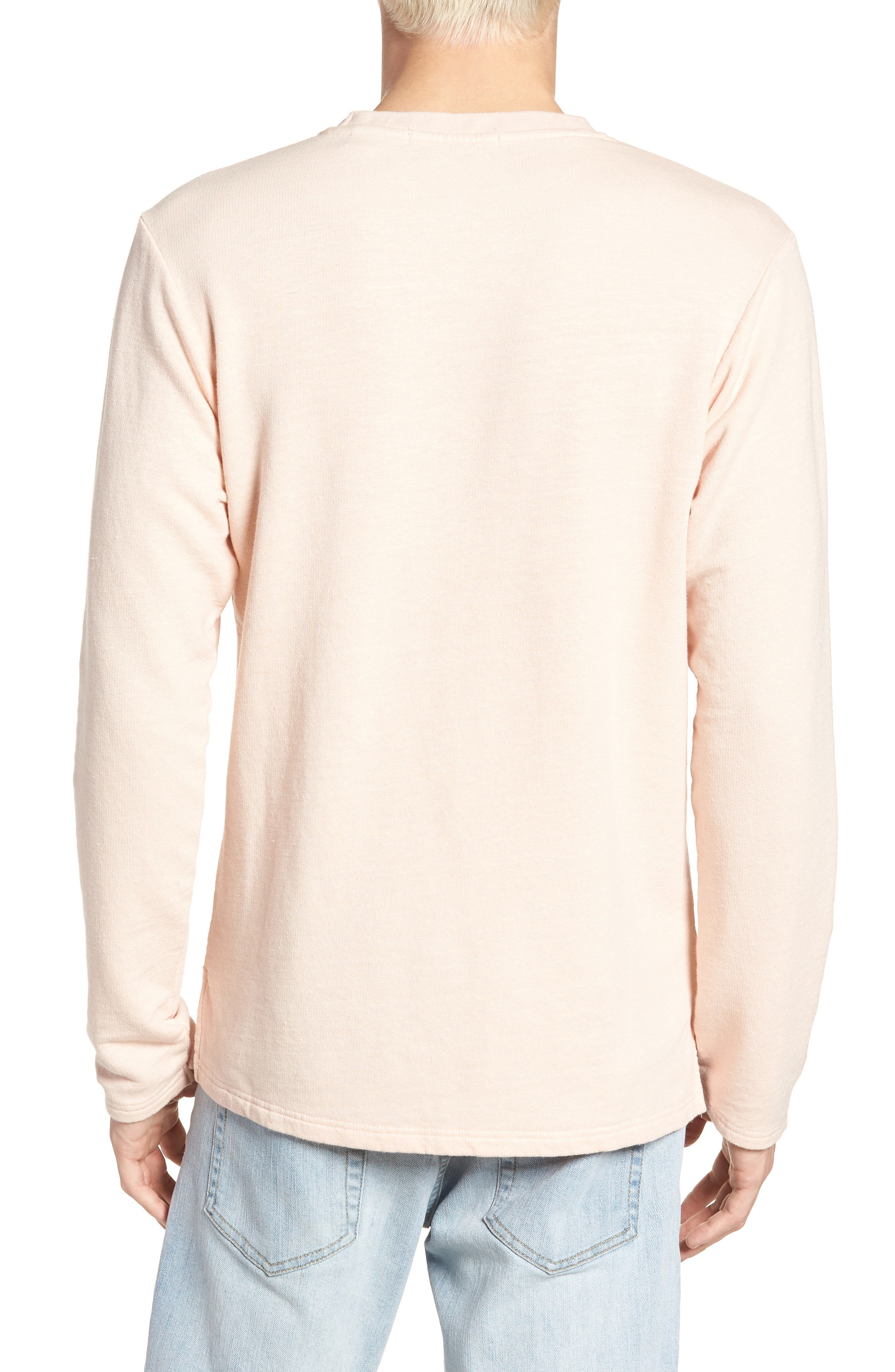 Stripe Crewneck Sweater,                             Alternate thumbnail 2, color,                             Pink Ash