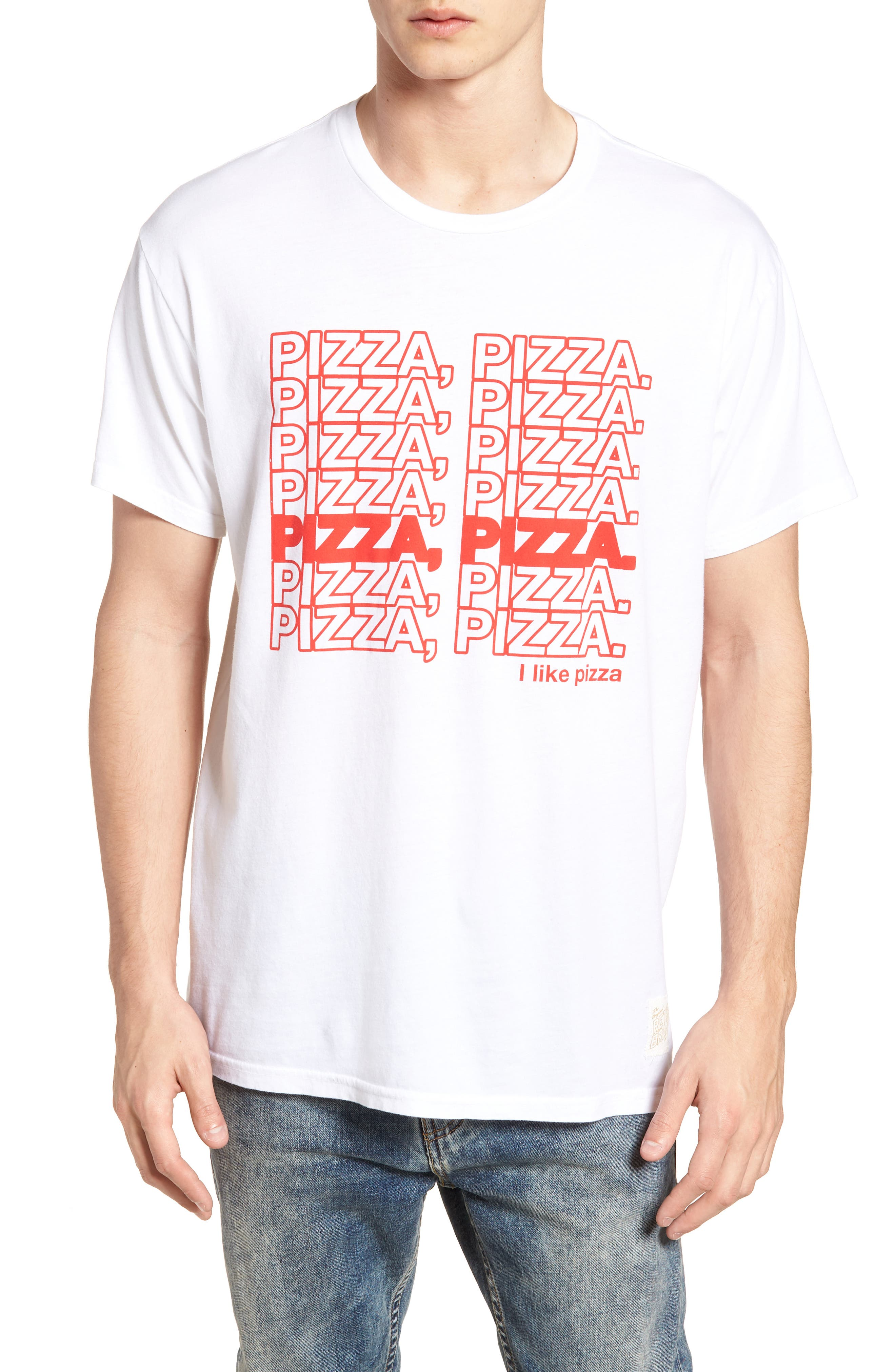 Pizza Pizza Graphic T-Shirt,                             Main thumbnail 1, color,                             White