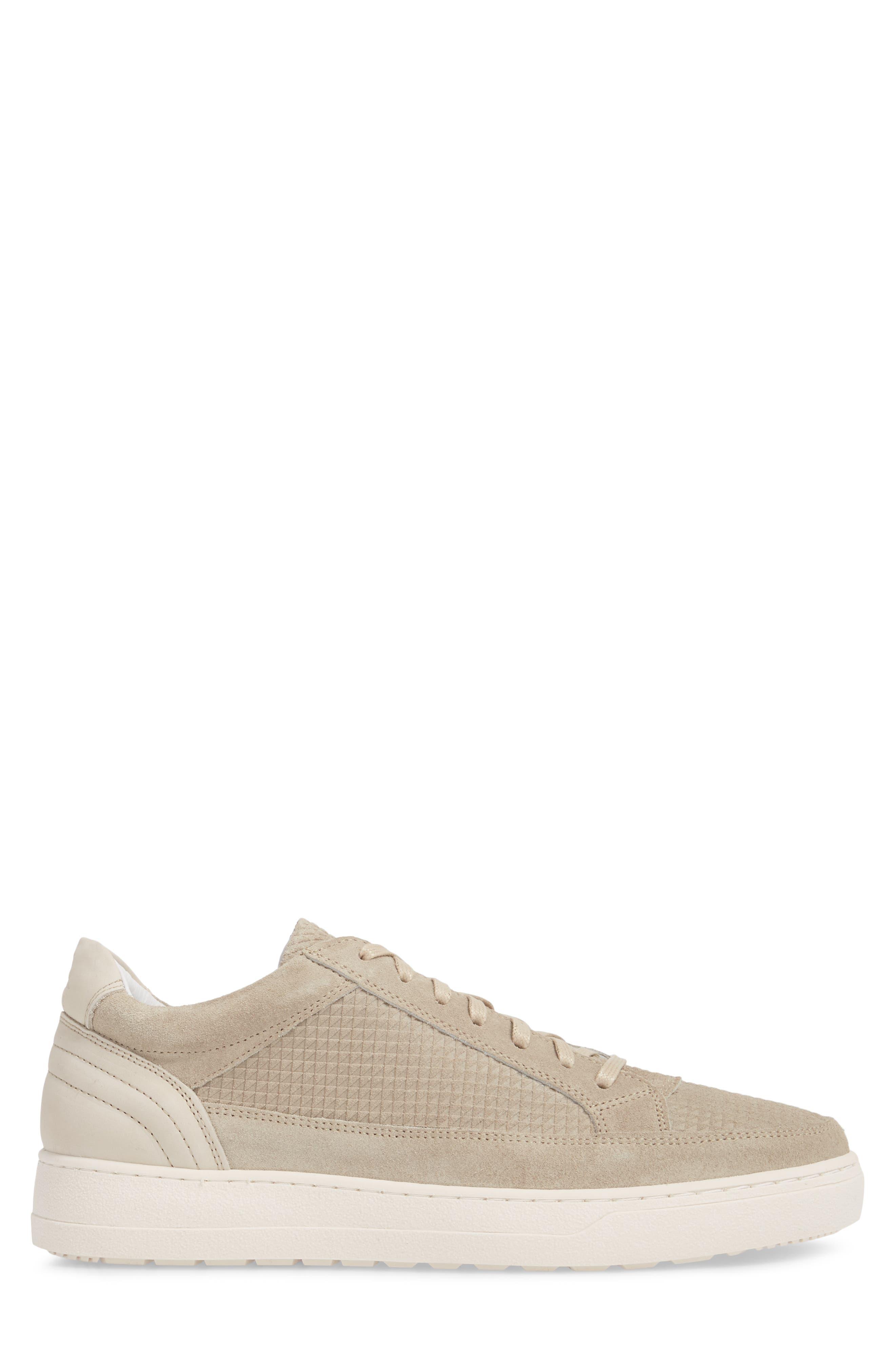 Reid Embossed Water Resistant Sneaker,                             Alternate thumbnail 3, color,                             Sand