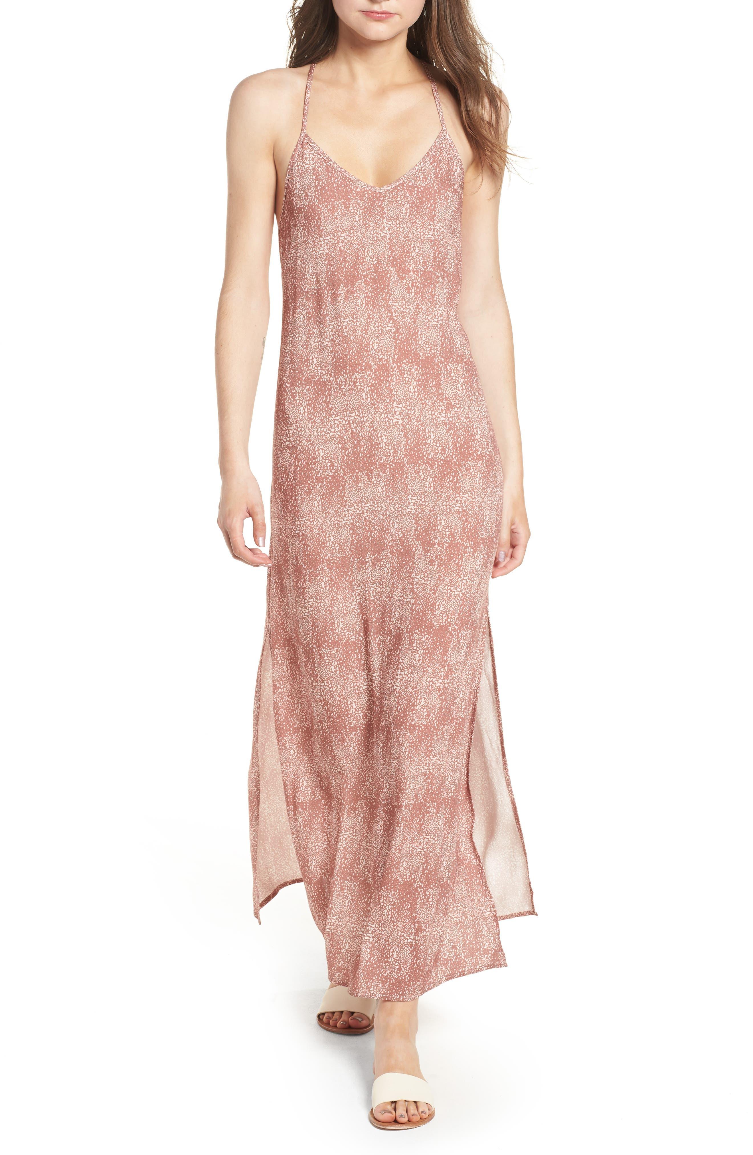 Misty Morning Maxi Dress,                         Main,                         color, Nutmeg