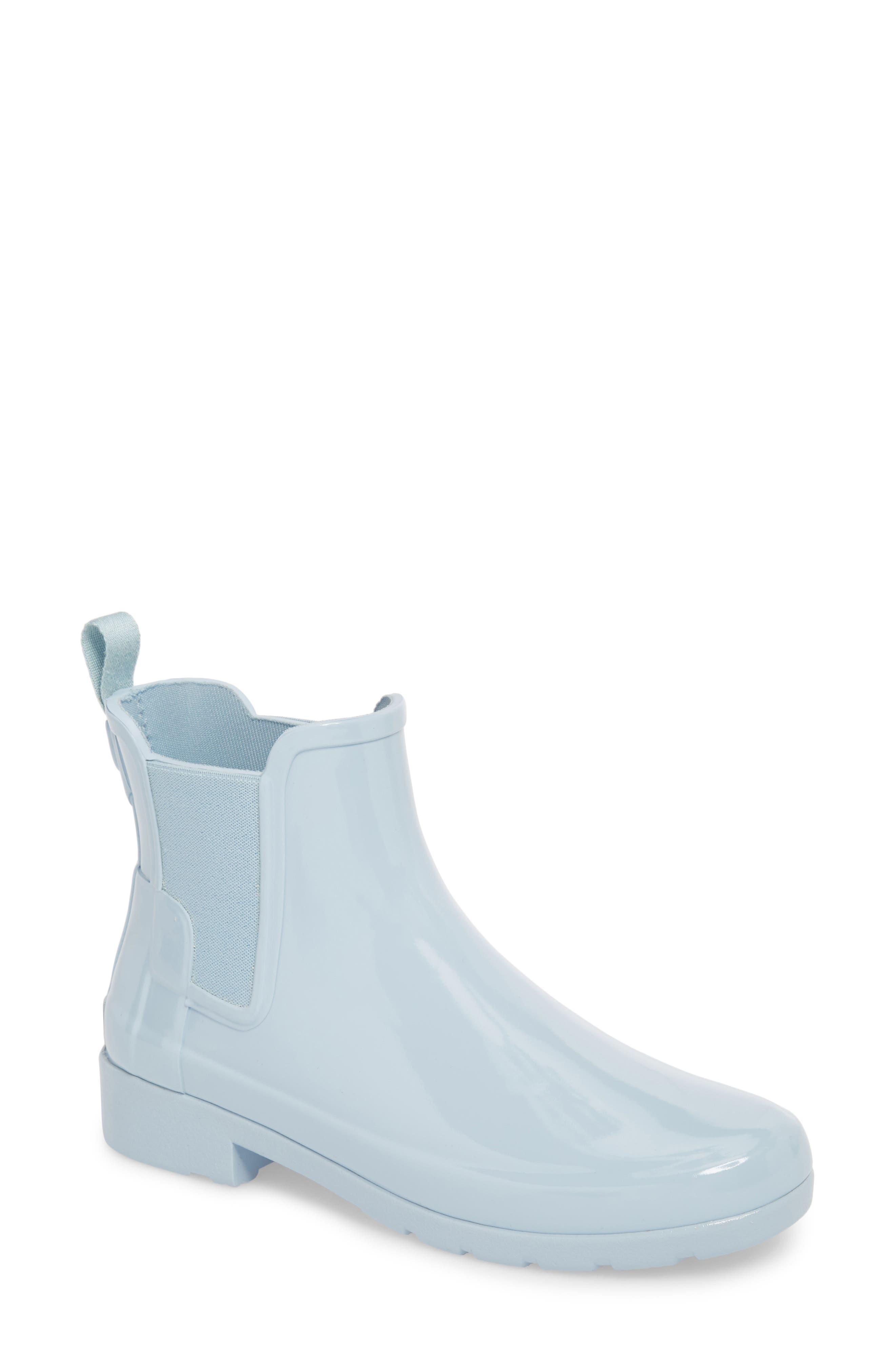 'Original Refined' Chelsea Rain Boot,                             Main thumbnail 1, color,                             Fountain Blue