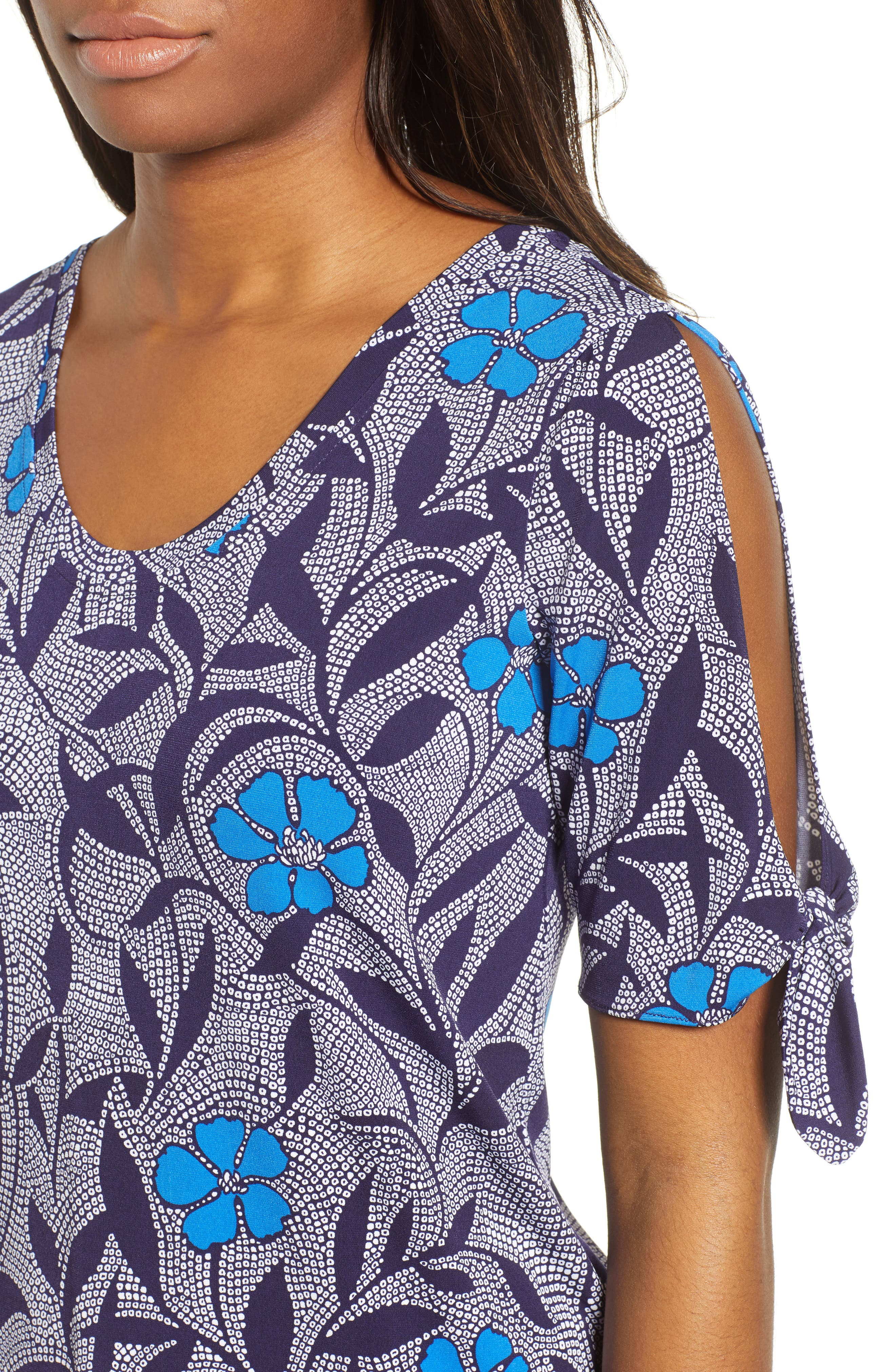 Pacific Bloom Top,                             Alternate thumbnail 4, color,                             Evening Navy