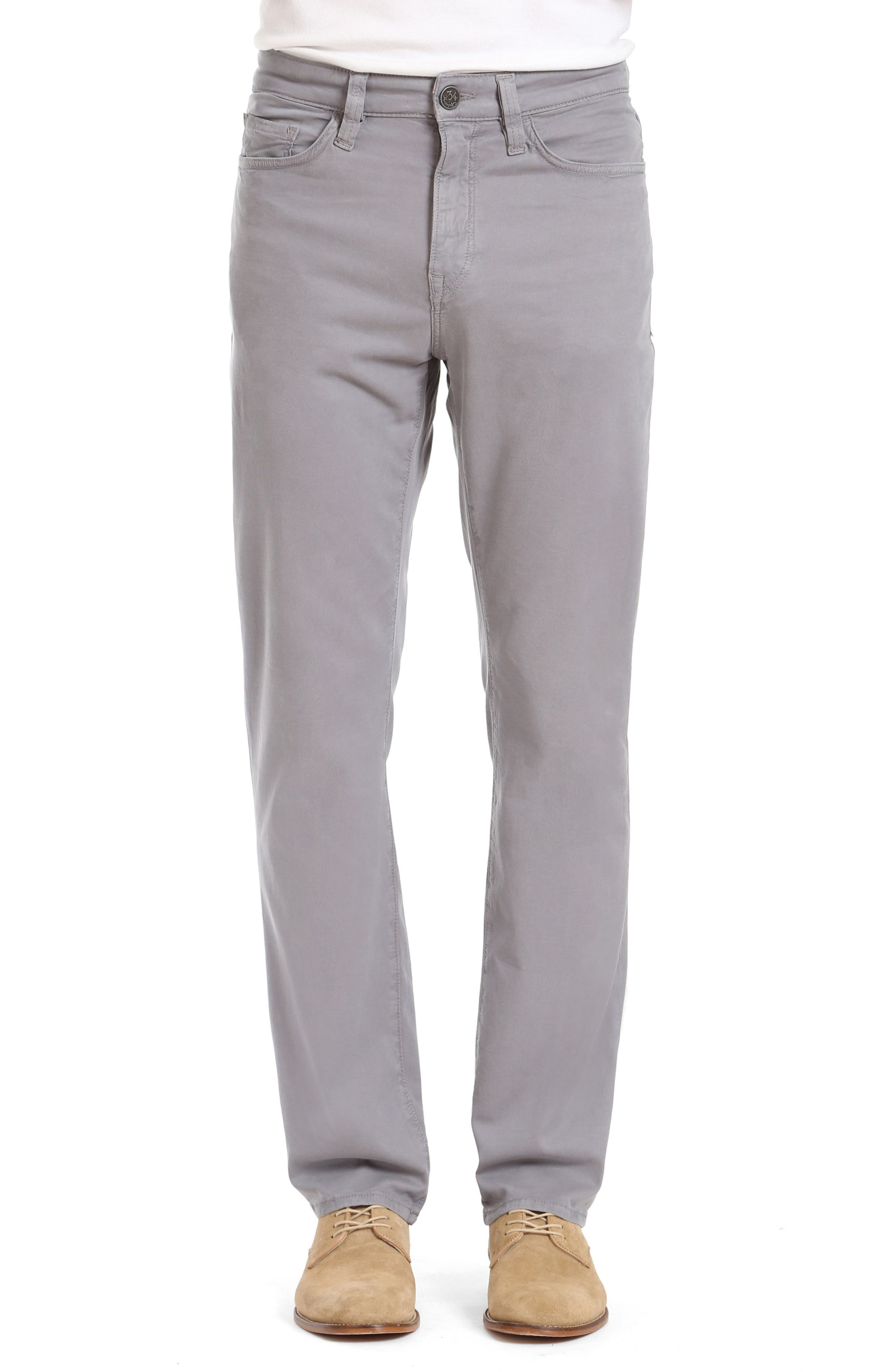 Charisma Relaxed Fit Twill Pants,                         Main,                         color, Grey Fine Twill