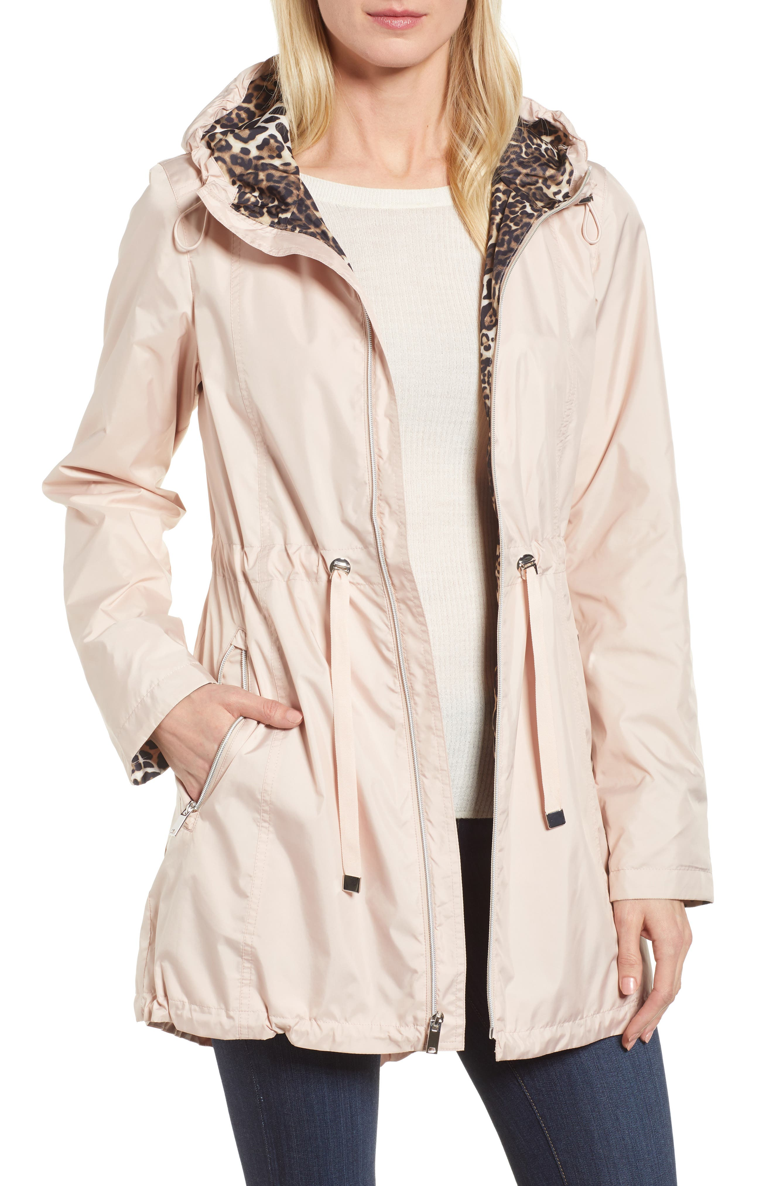 Packable Hooded Anorak,                         Main,                         color, Rose Blush