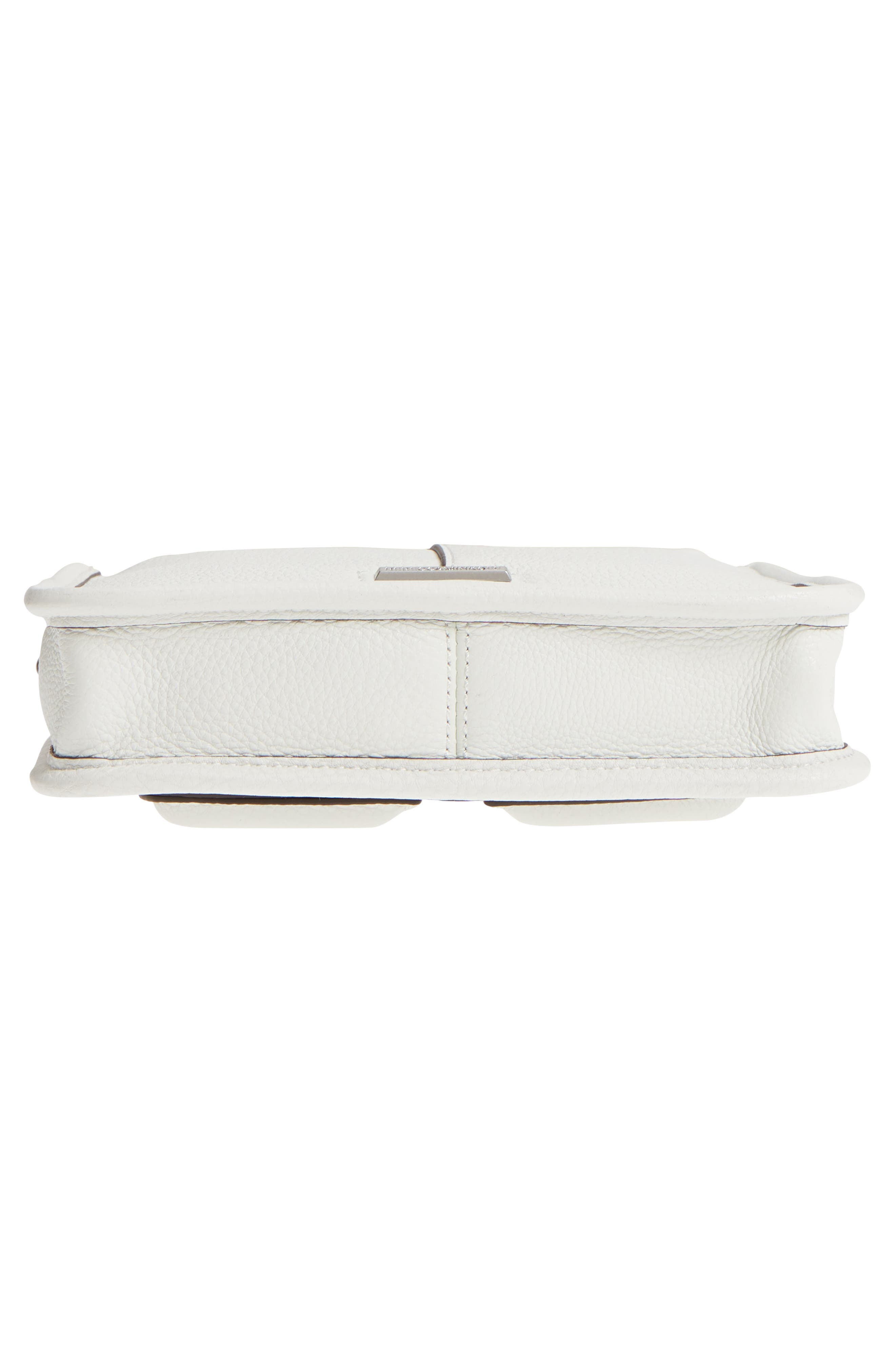 Mini Unlined Leather Feed Bag,                             Alternate thumbnail 6, color,                             Bianco/ Green