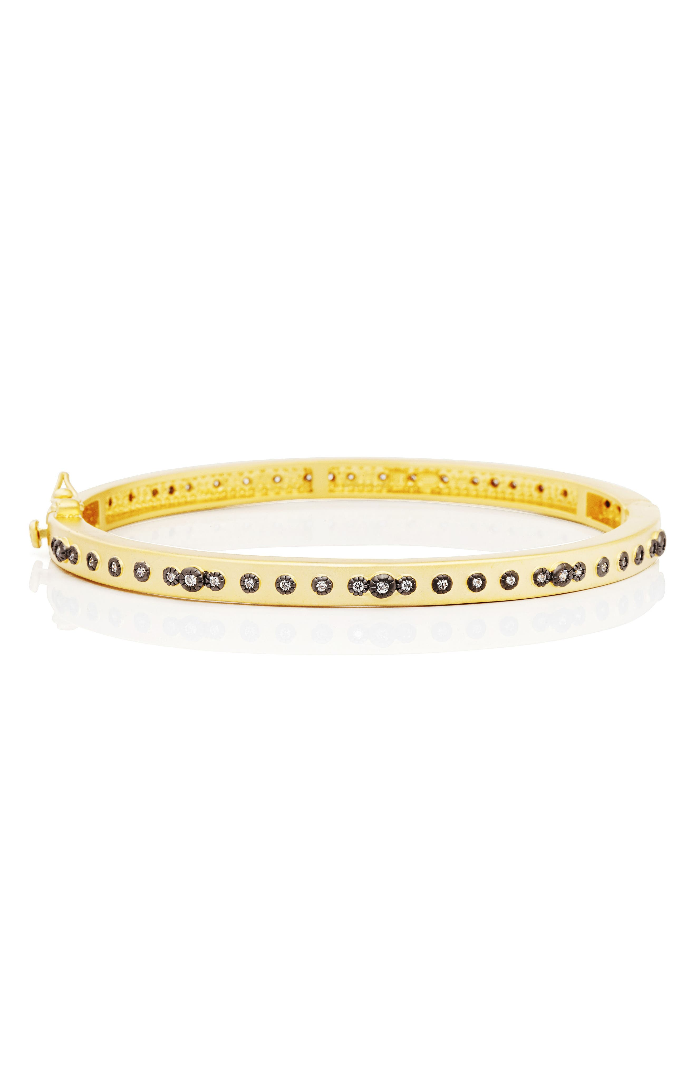 Signature Mini Stud Eternity Bracelet,                             Main thumbnail 1, color,                             Gold/ Black