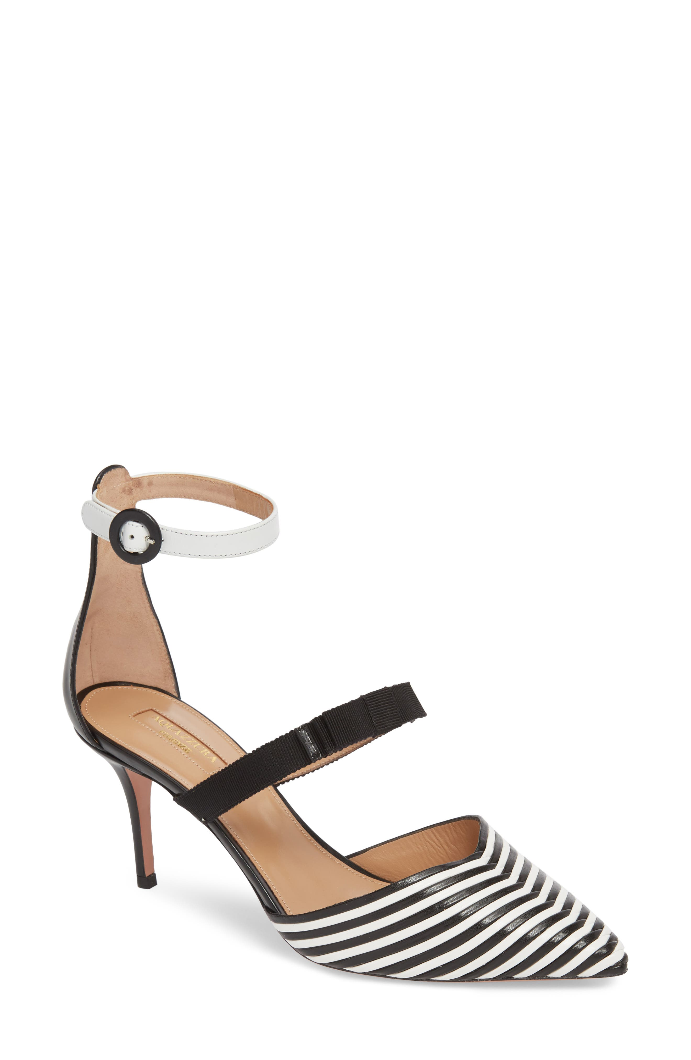 Very Downtown Ankle Strap Pump,                         Main,                         color, Black