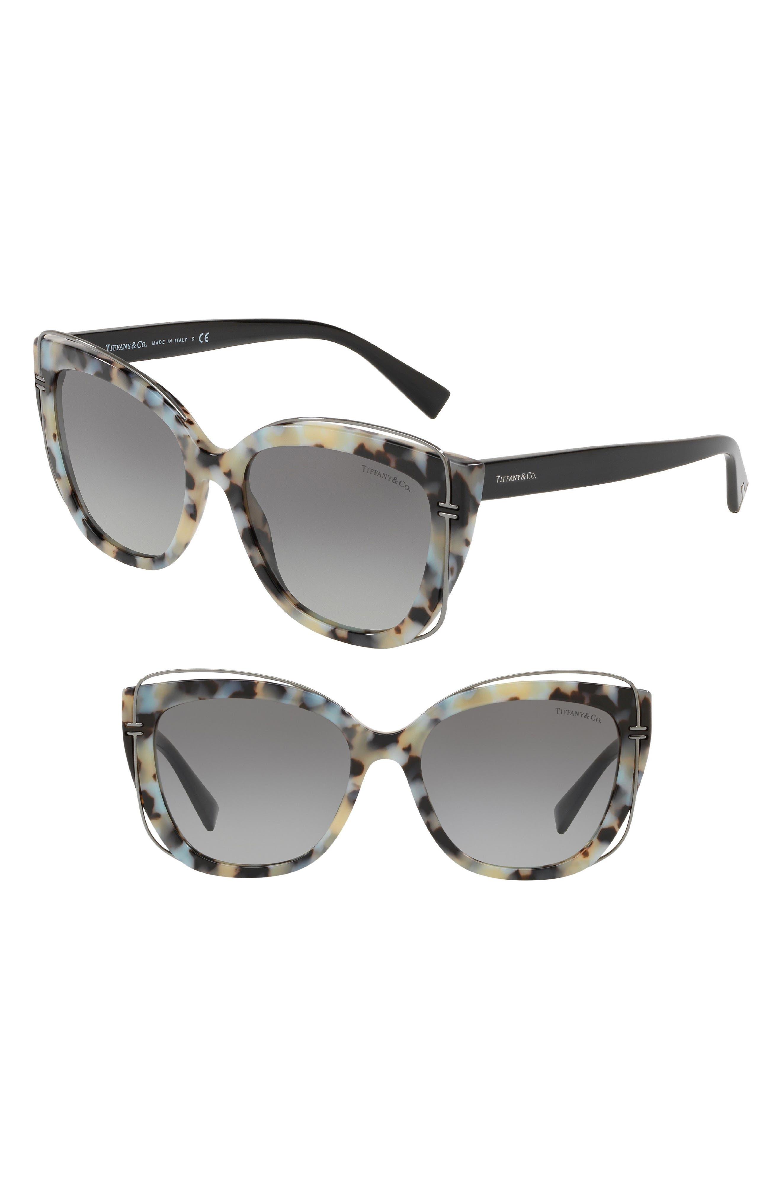 54mm Gradient Cat Eye Sunglasses,                         Main,                         color, Beige Havana Gradient