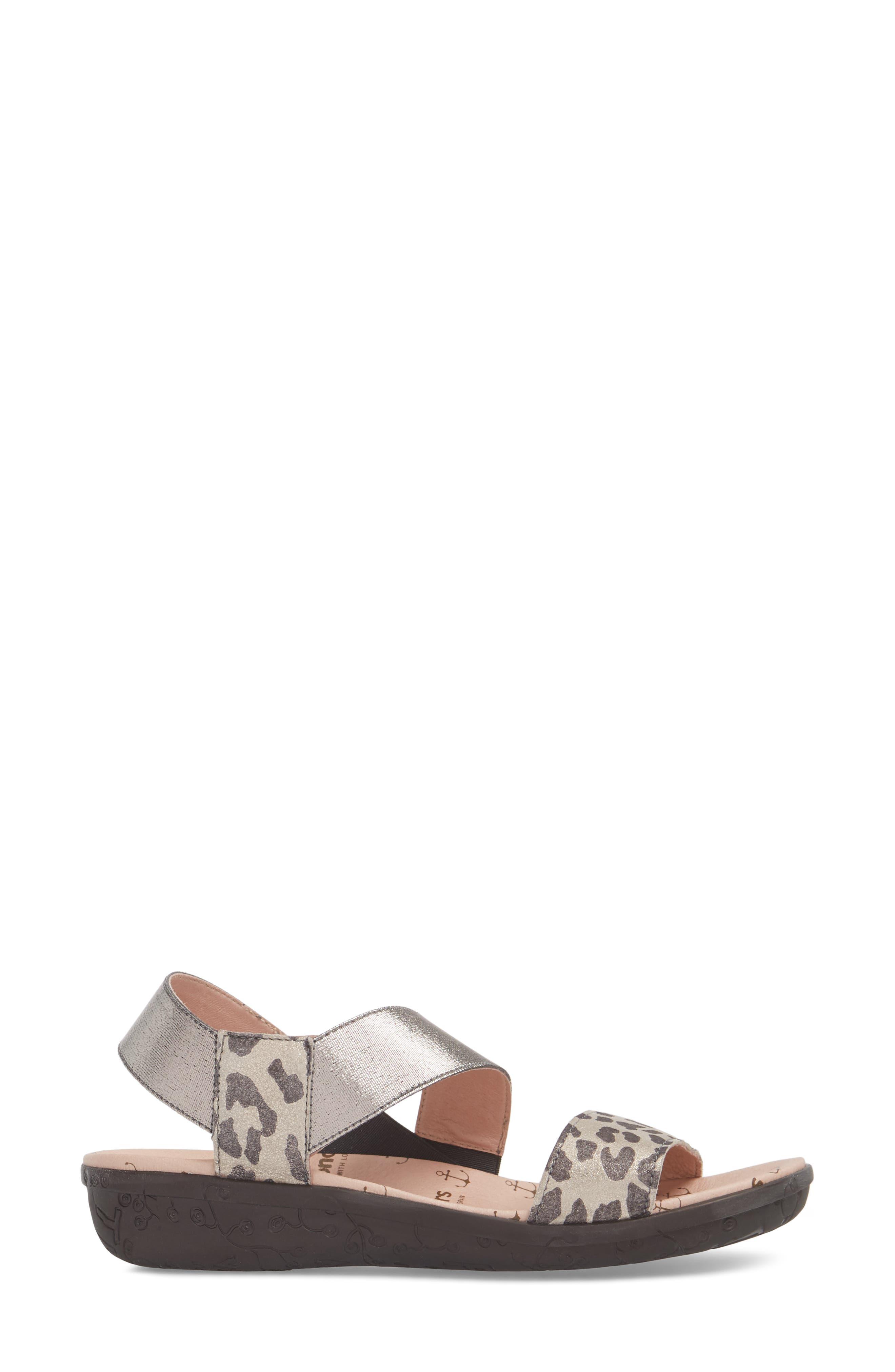 Slingback Sandal,                             Alternate thumbnail 3, color,                             Leo Leather