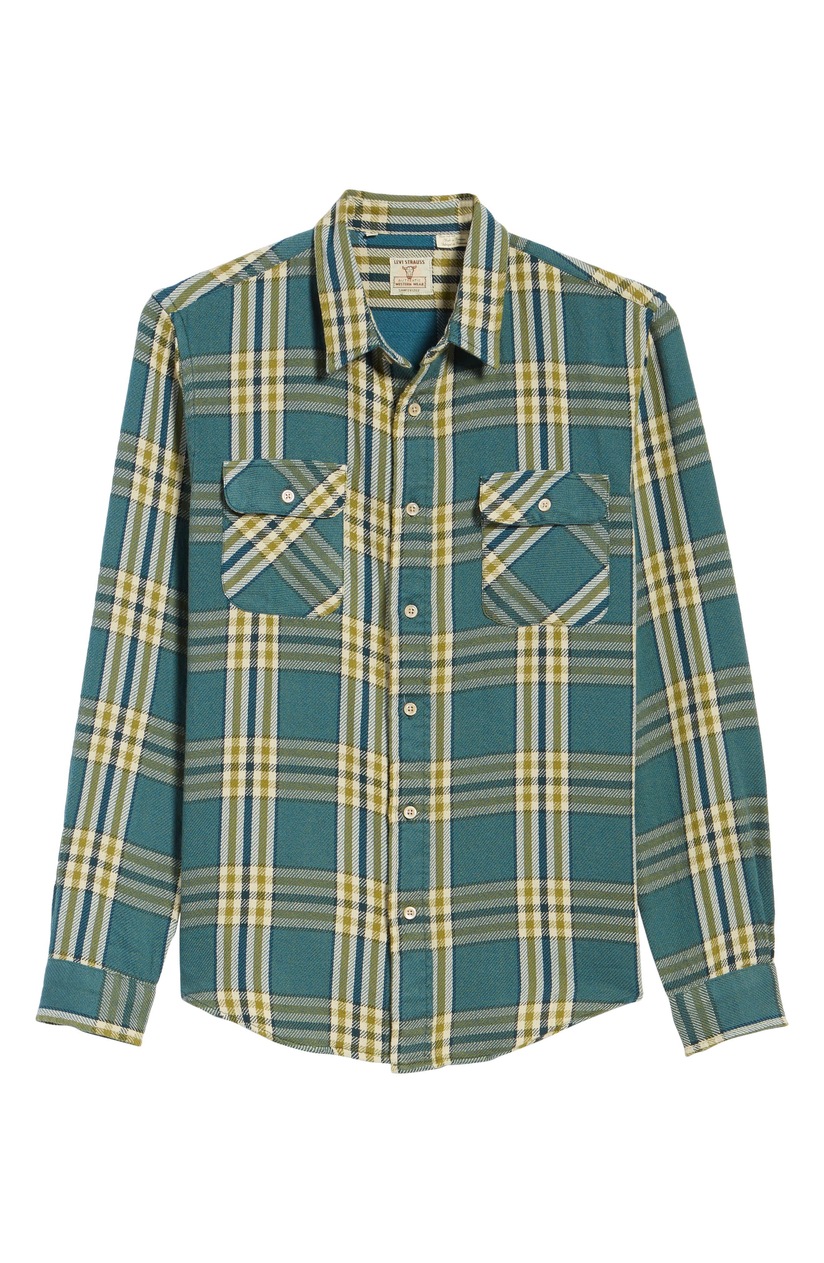 Shorthorn Western Shirt,                             Alternate thumbnail 6, color,                             Under Water Blue Multi