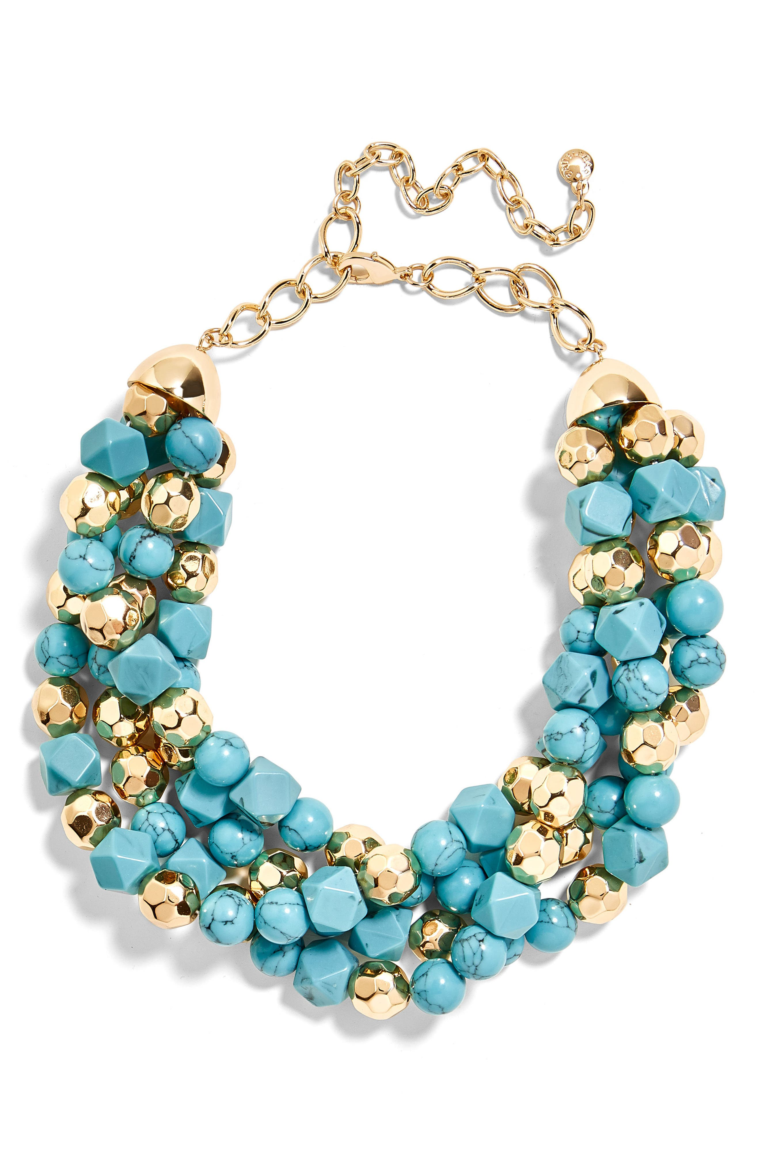 Sole Society Womens Open Sea Statement Necklace Turquoise One Size From Sole Society drqP2hc1X