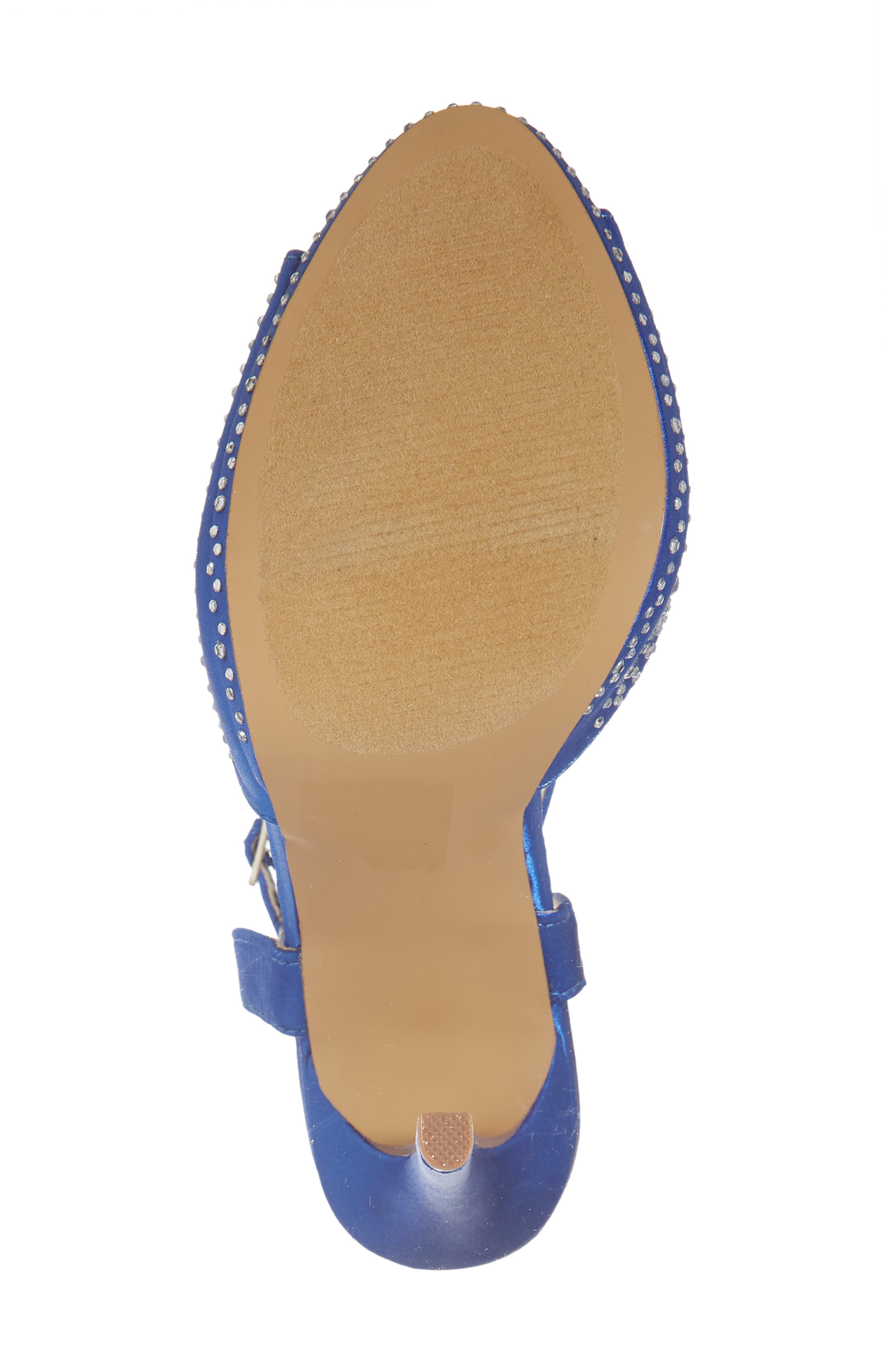 Tavi Sandal,                             Alternate thumbnail 6, color,                             Royal Blue Fabric