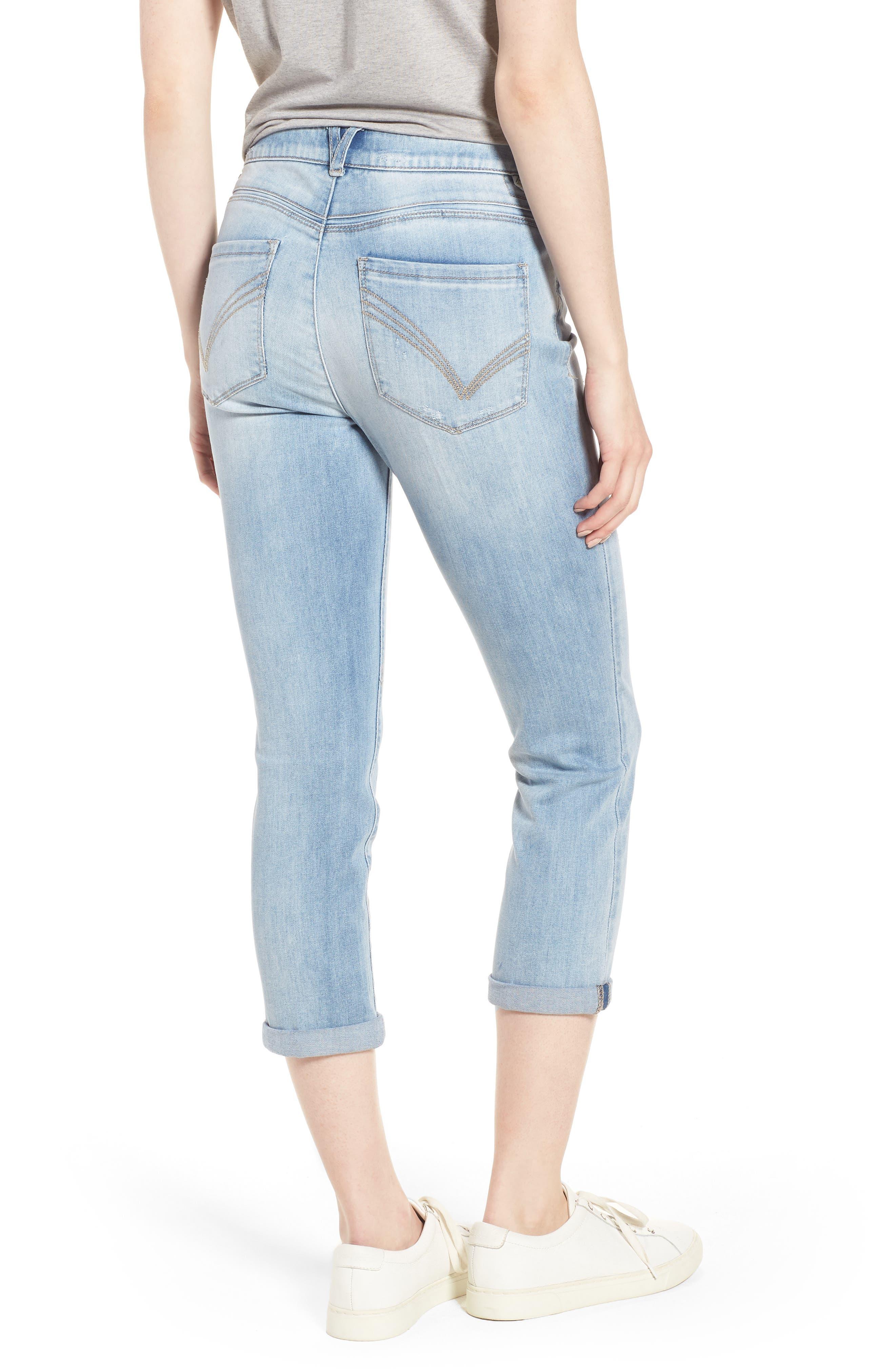 Ab-solution High Rise Crop Jeans,                             Alternate thumbnail 2, color,                             Light Blue