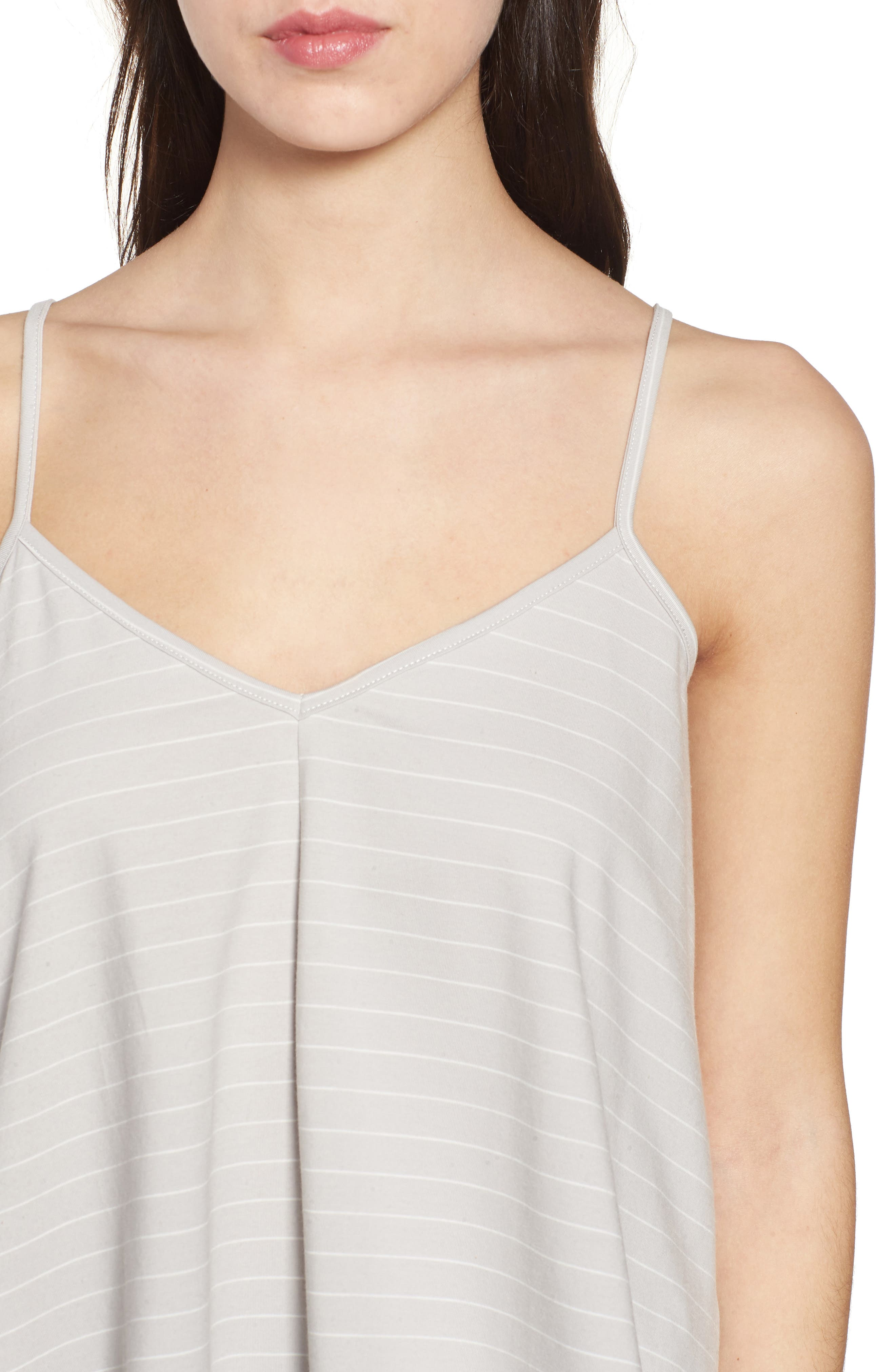 Harlow Stripe Camisole Top,                             Alternate thumbnail 6, color,                             Pewter