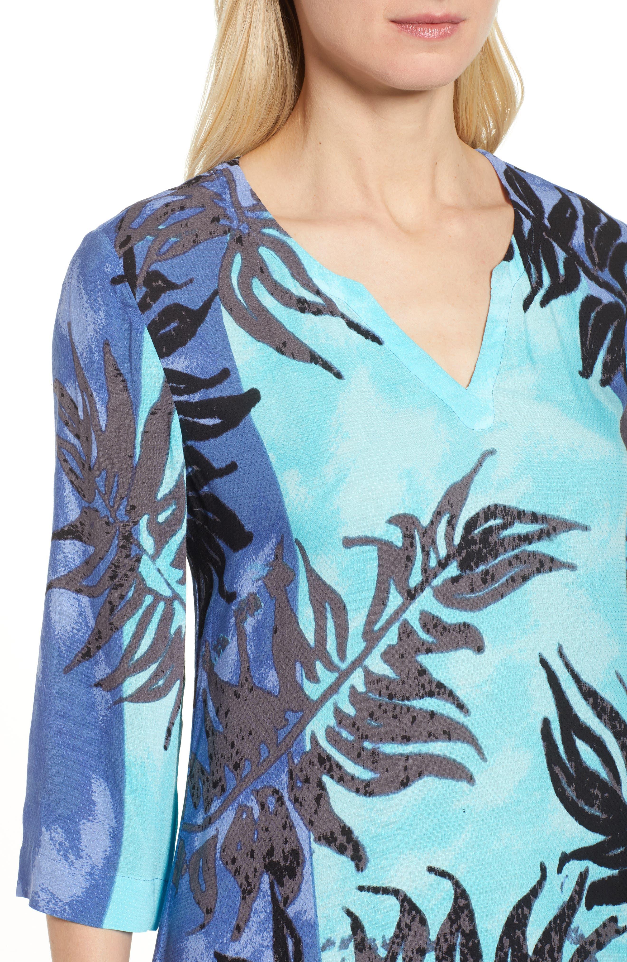 Under the Sun Tropical Print Dress,                             Alternate thumbnail 4, color,                             Multi