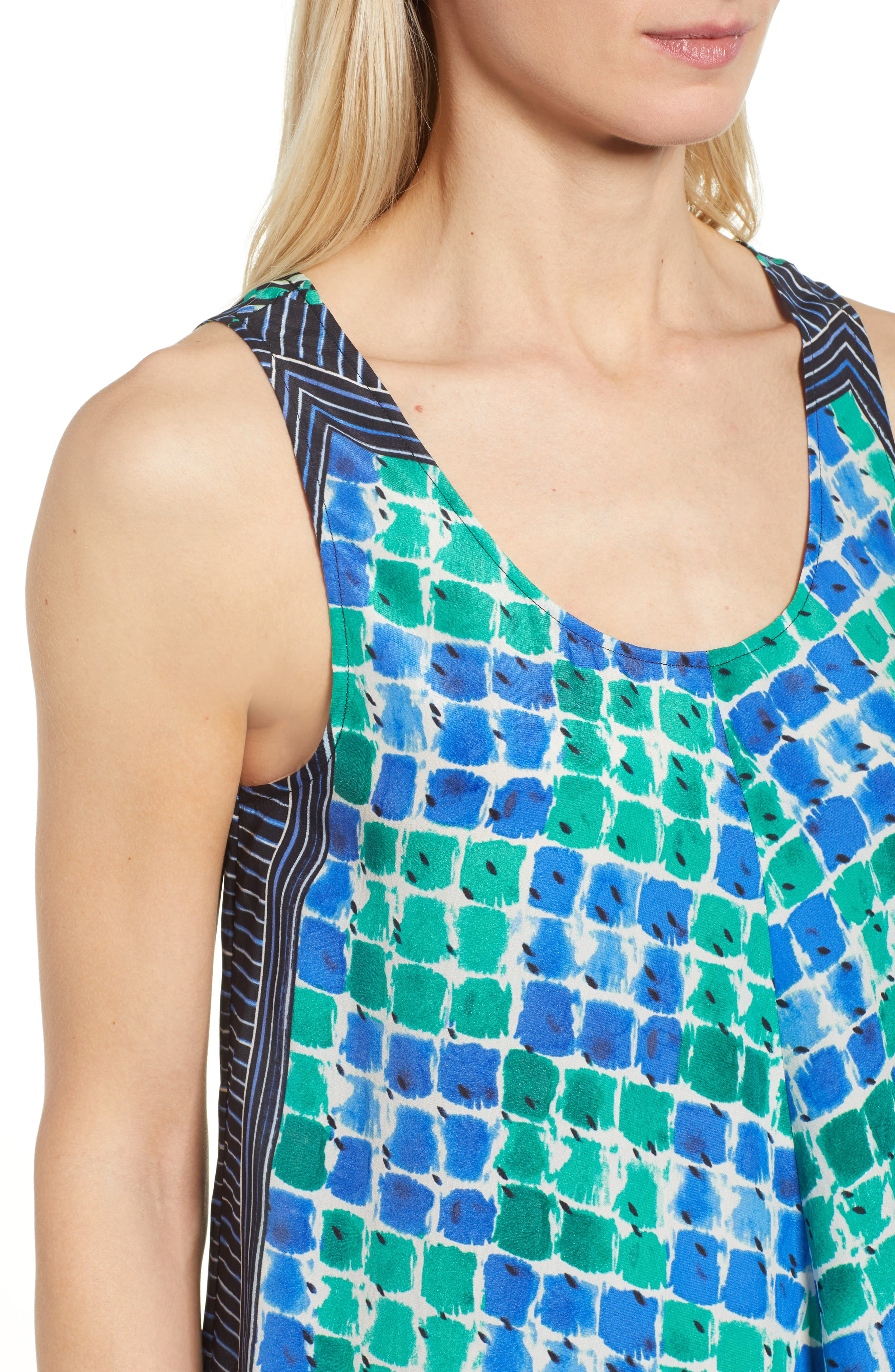 DJ VU Print Tank,                             Alternate thumbnail 4, color,                             Multi