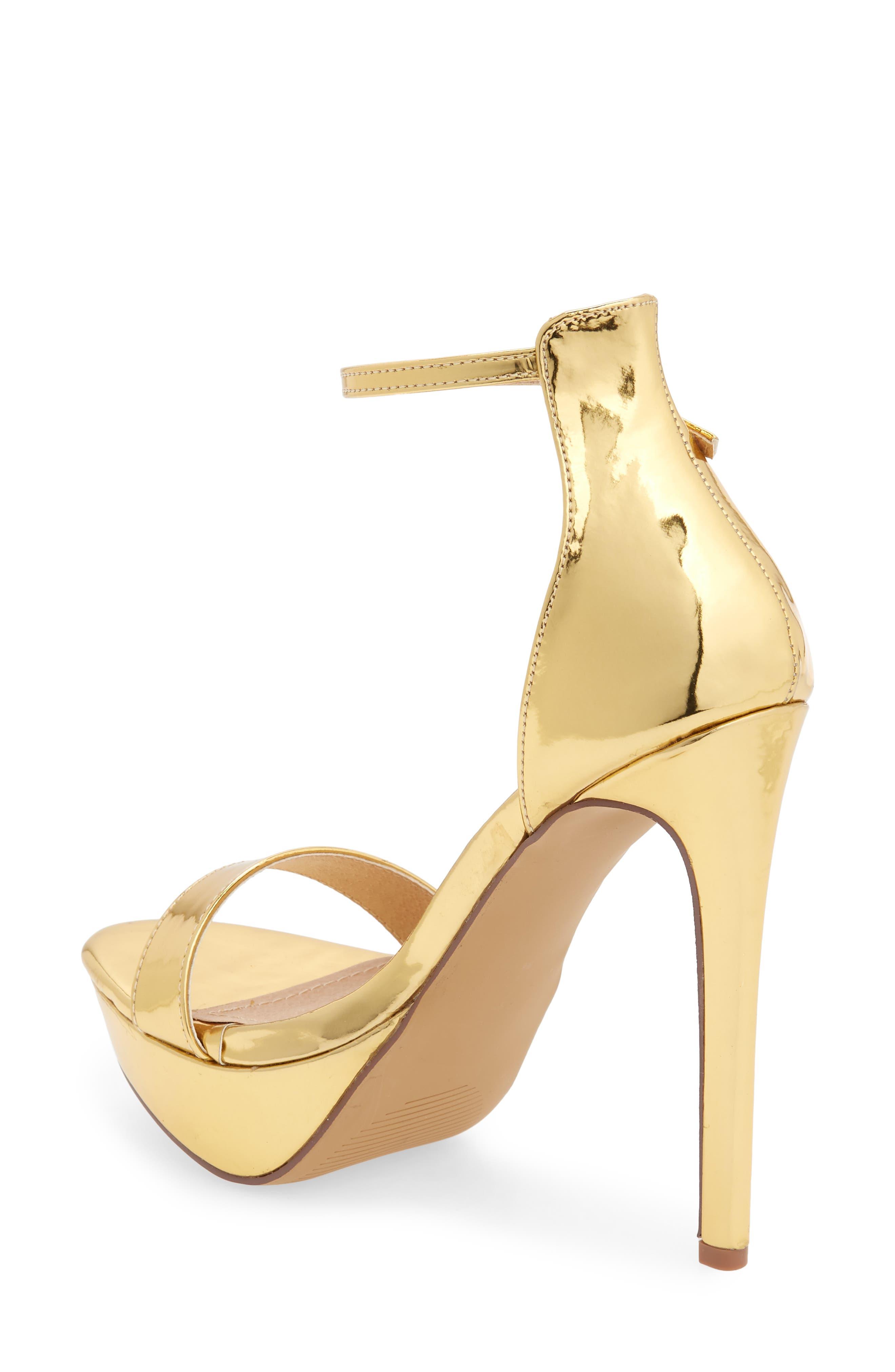 Darlene Platform Sandal,                             Alternate thumbnail 2, color,                             Gold