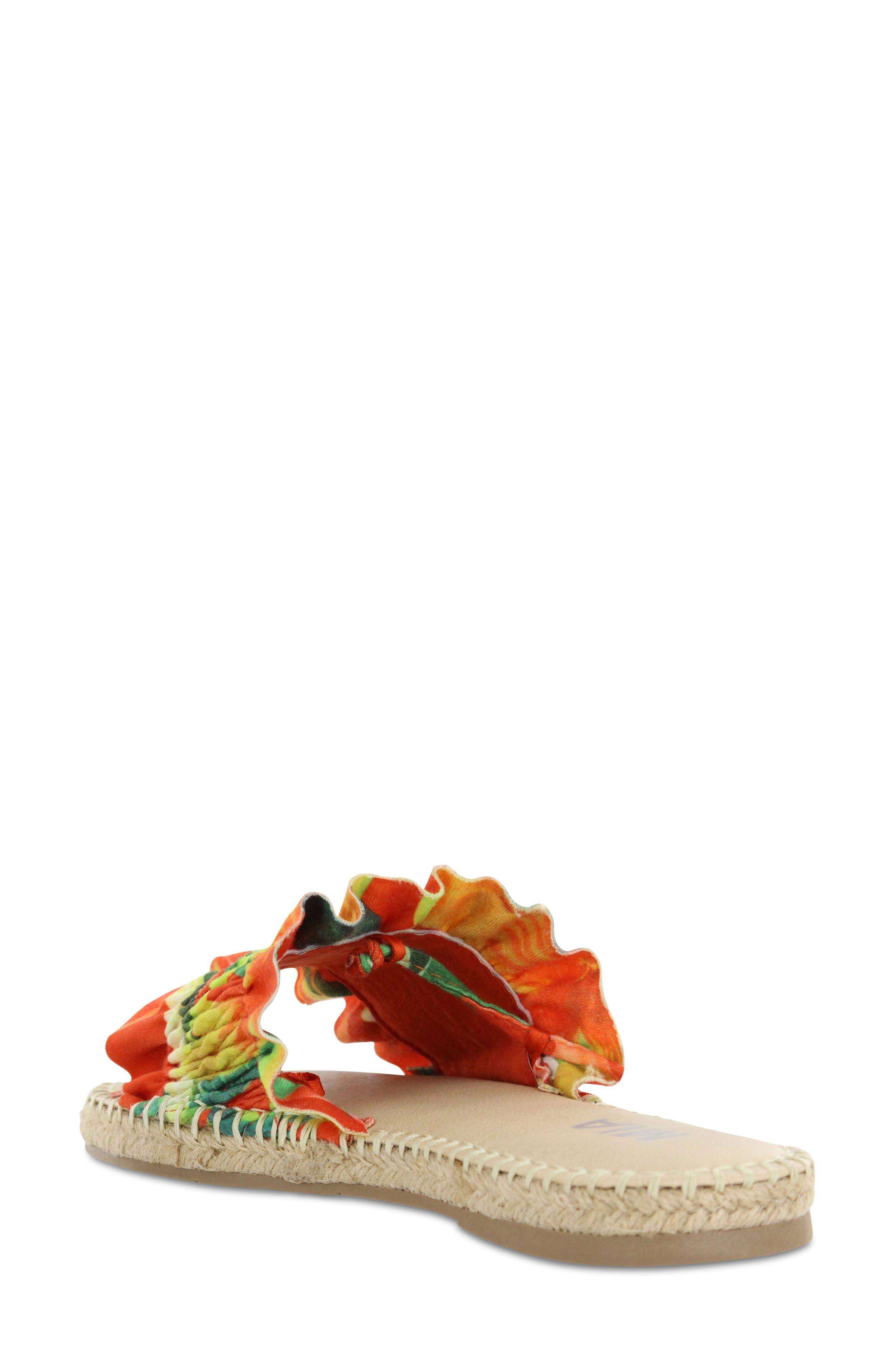 Annalise Sandal,                             Alternate thumbnail 2, color,                             Red Amazon Scrunch Fabric