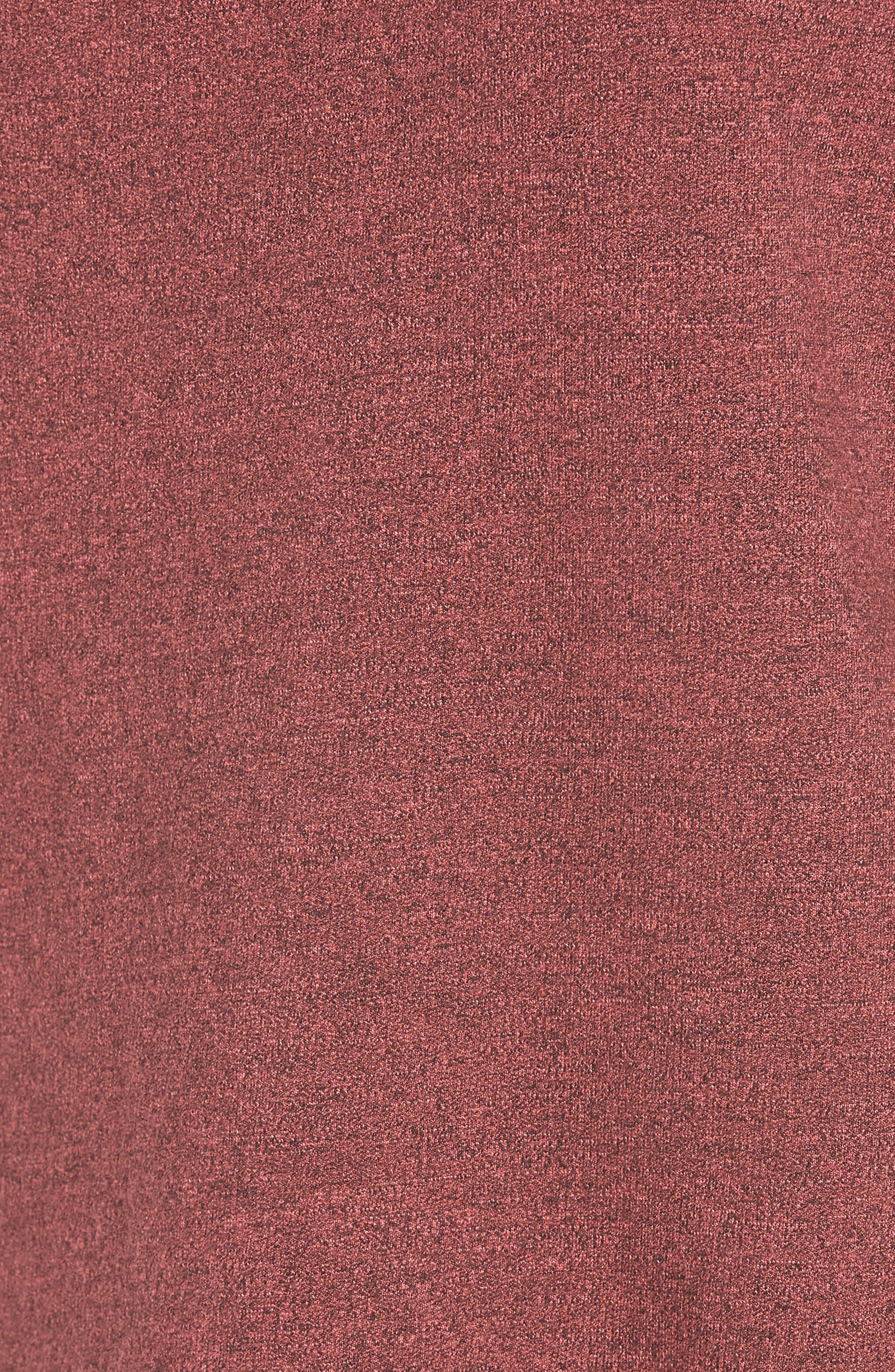 Love Raw Edge Pullover,                             Alternate thumbnail 6, color,                             Hibiscus
