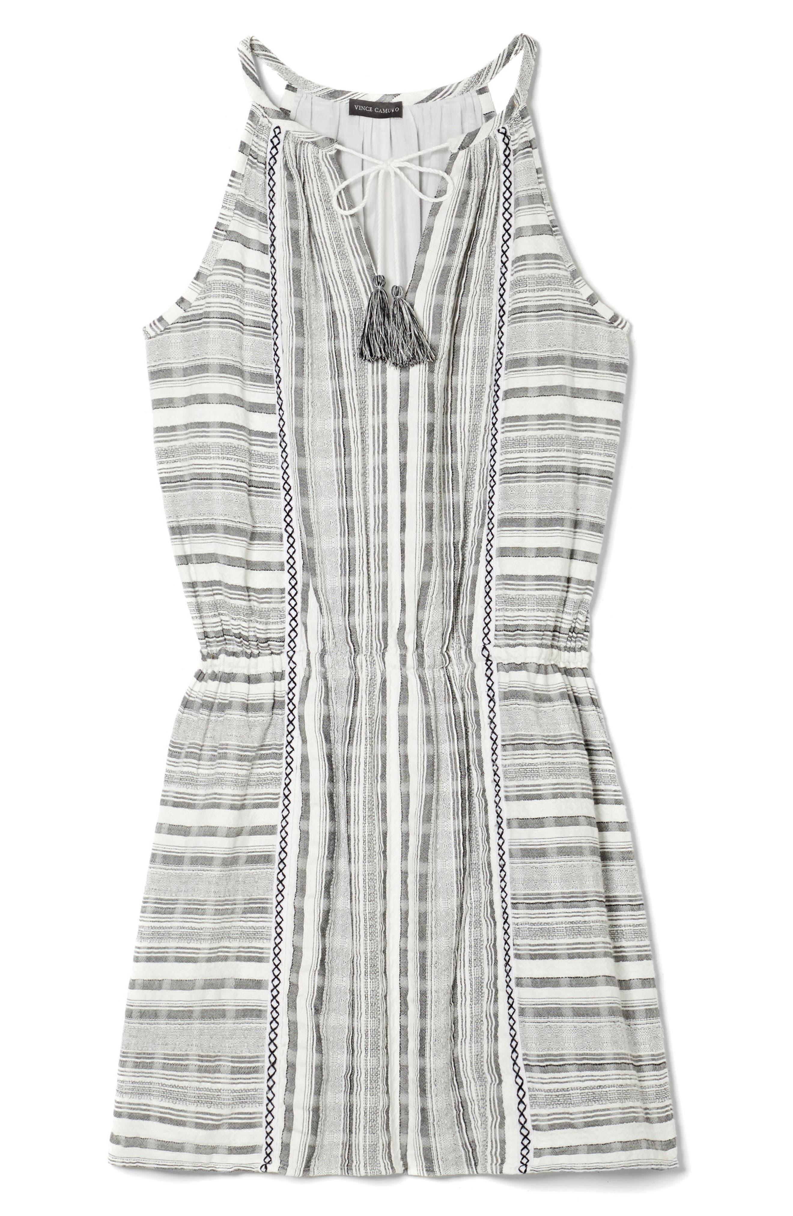 Baja Striped Minidress,                             Alternate thumbnail 3, color,                             New Ivory