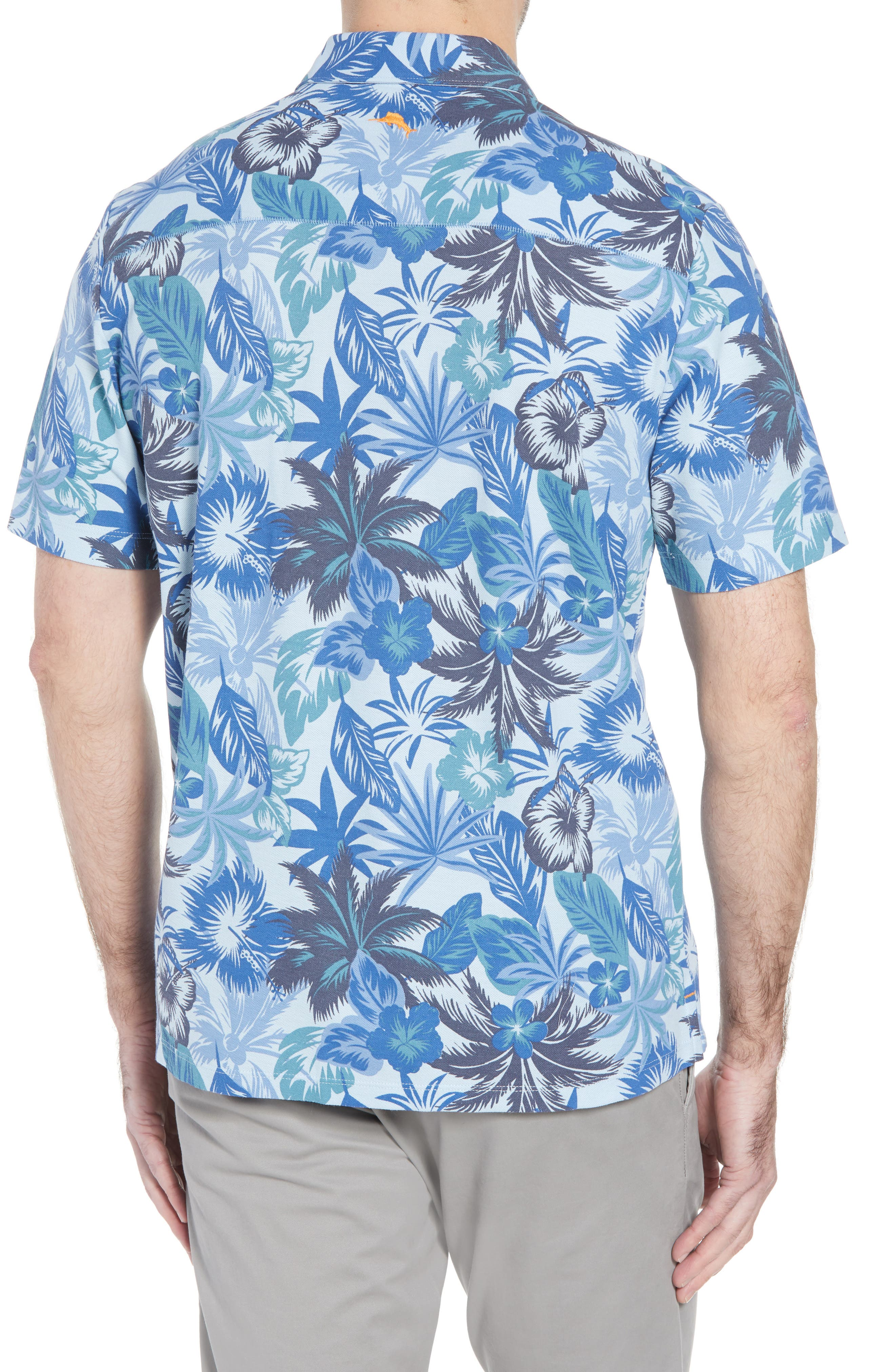 Fuego Floral Camp Shirt,                             Alternate thumbnail 2, color,                             Light Sky