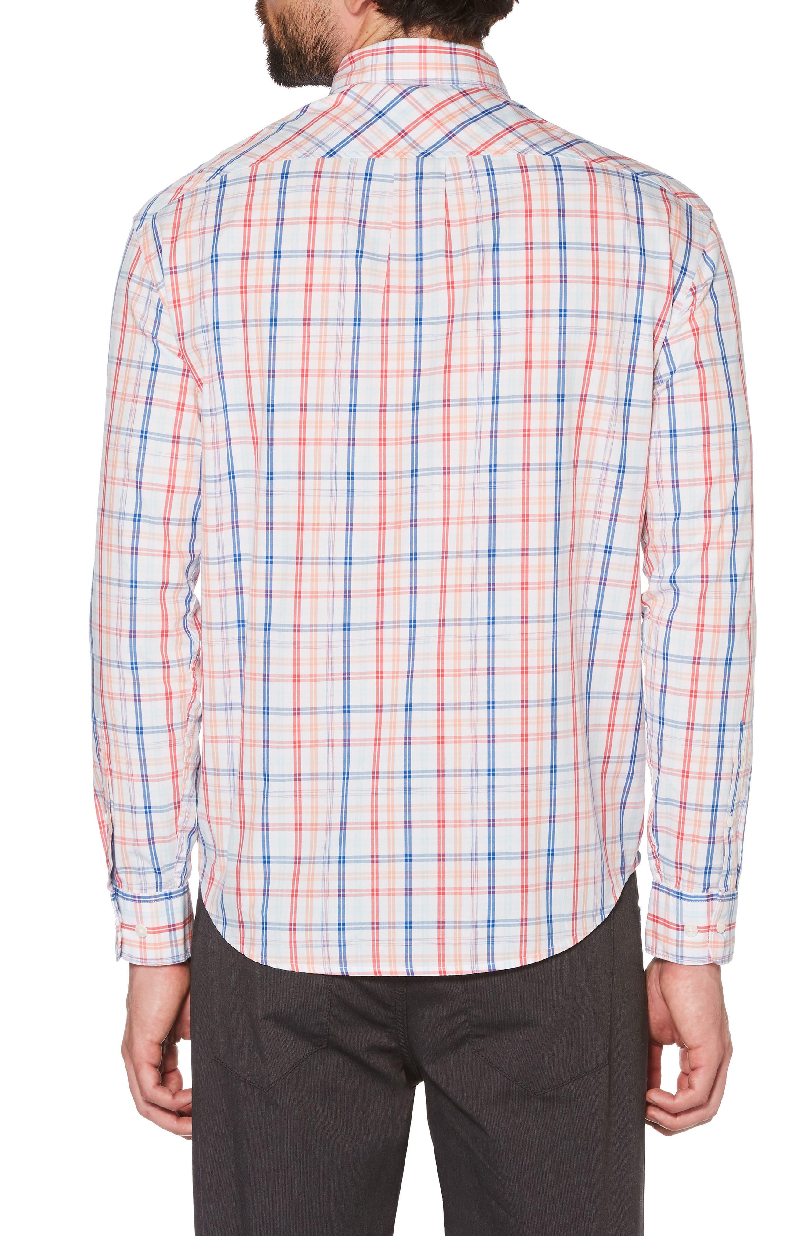 P55 Space Dye Plaid Shirt,                             Alternate thumbnail 2, color,                             Bright White