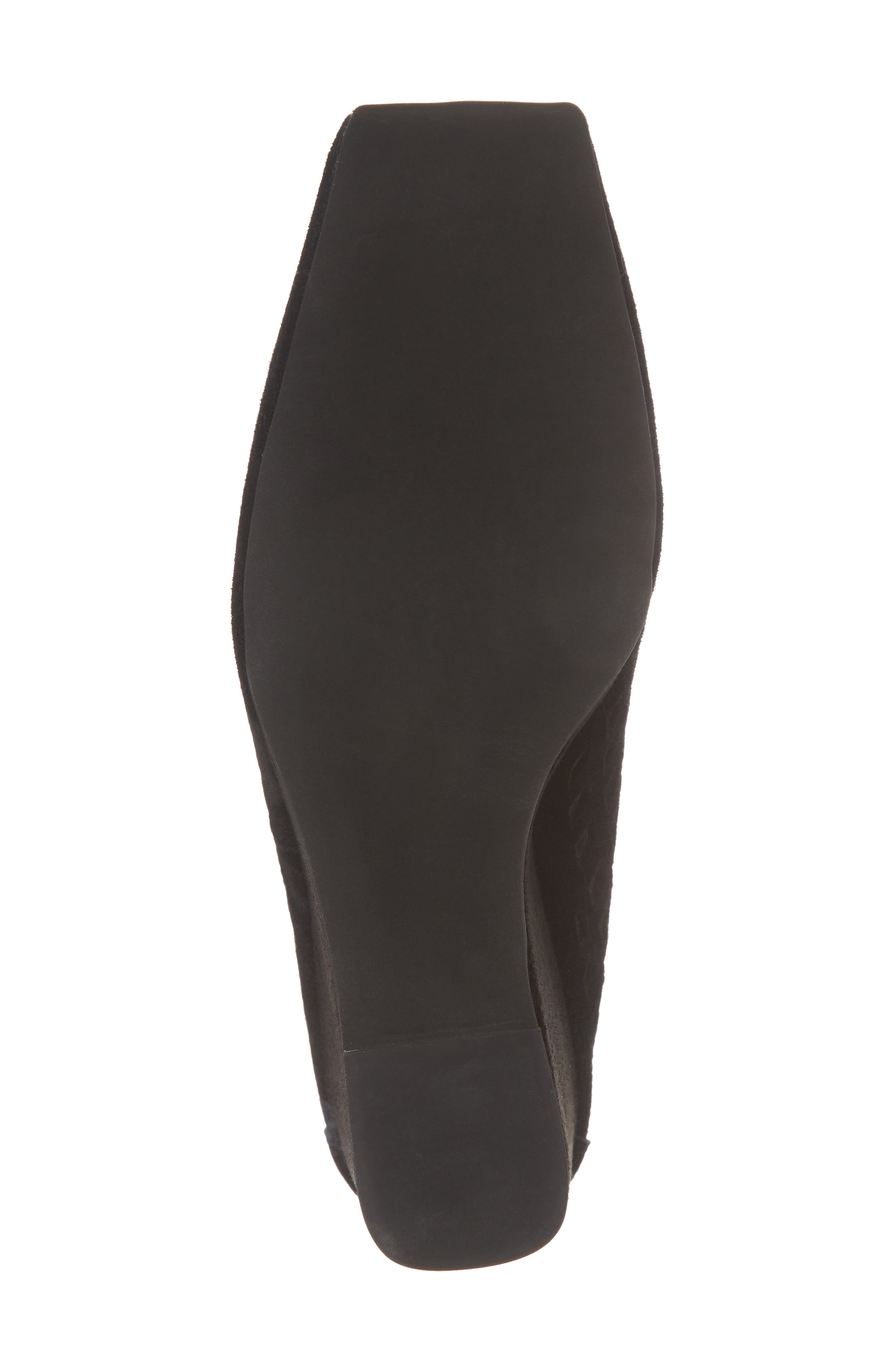 Vanira Perforated Wedge,                             Alternate thumbnail 6, color,                             Black Suede