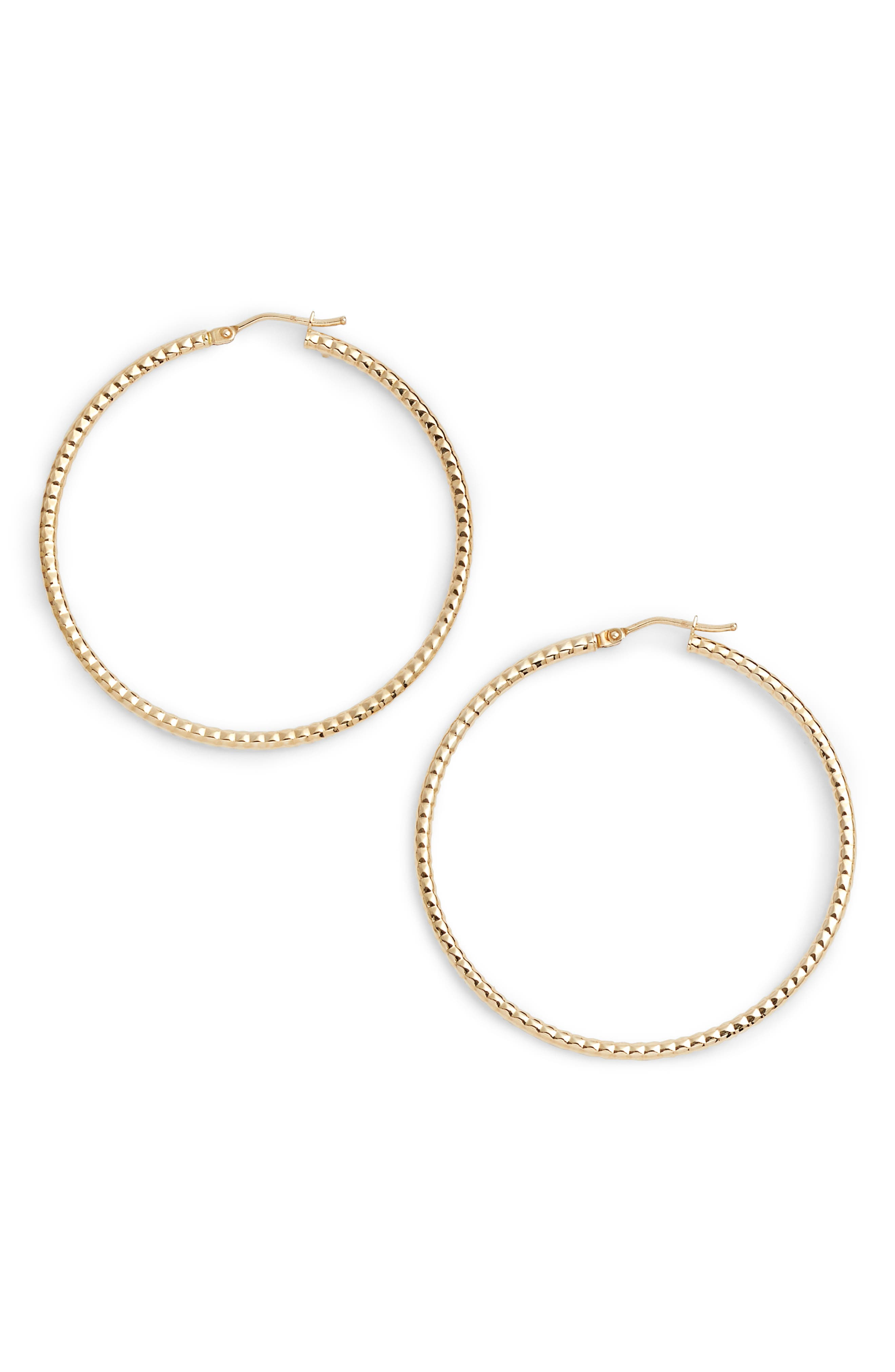 Textured Hoop Earrings,                             Main thumbnail 1, color,                             Yellow Gold
