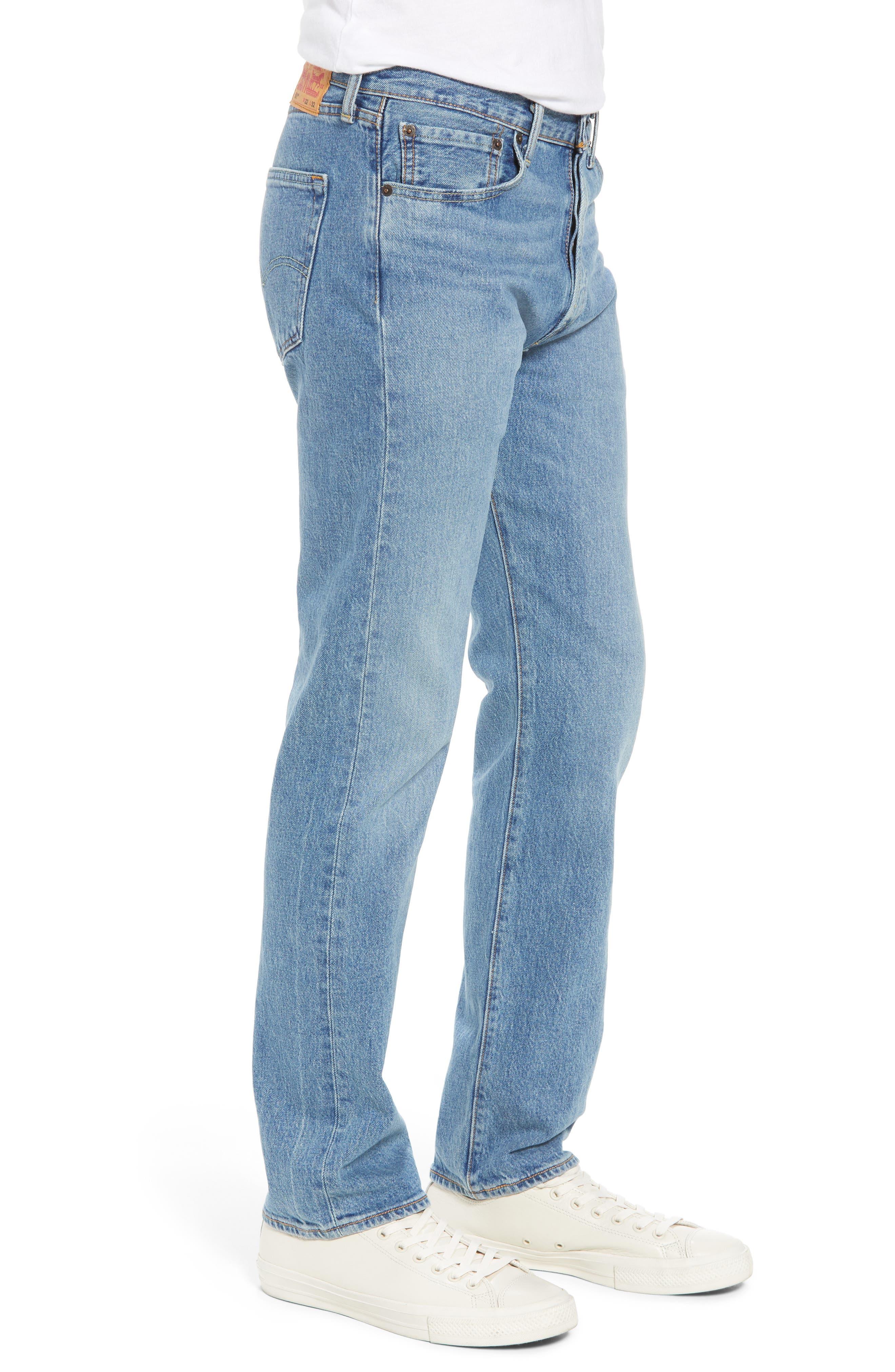 501<sup>®</sup> Original Straight Leg Jeans,                             Alternate thumbnail 3, color,                             The Ben