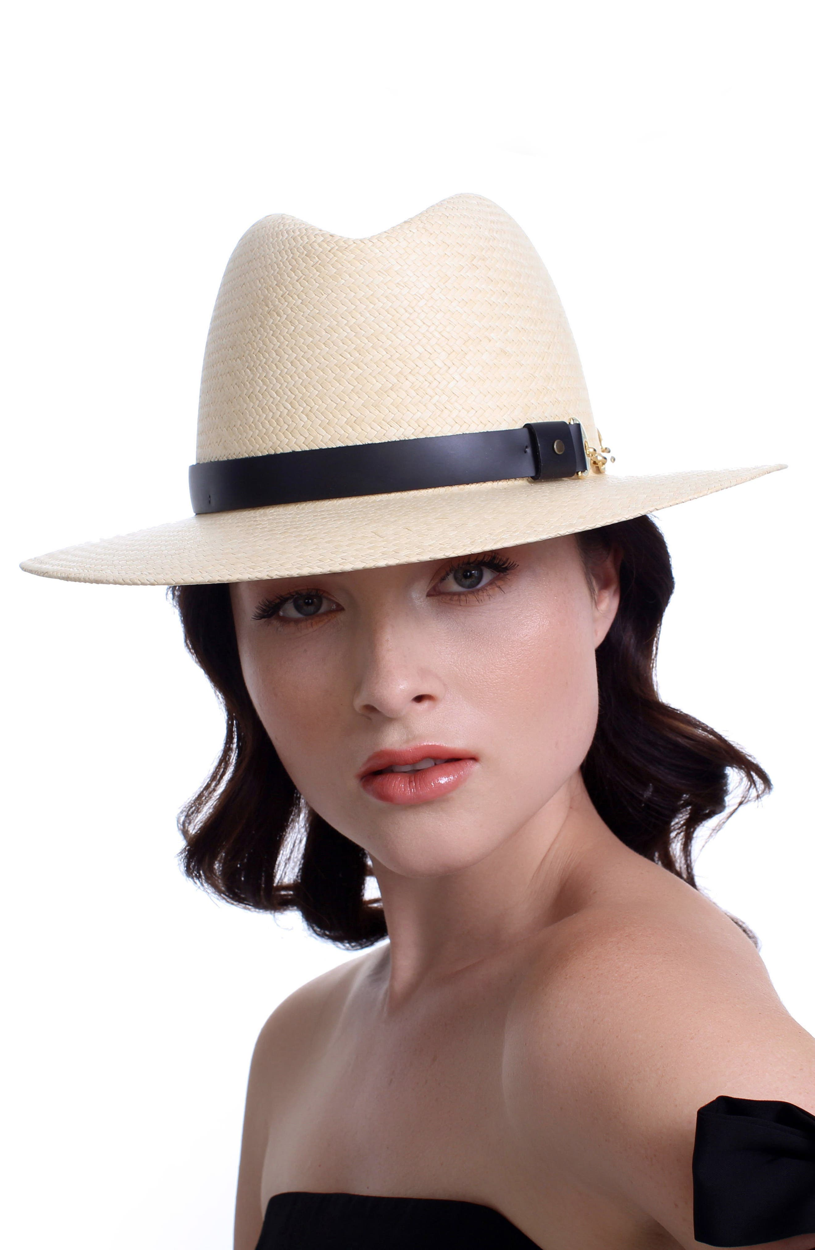 The Marlene Straw Panama Hat,                             Alternate thumbnail 2, color,                             Natural