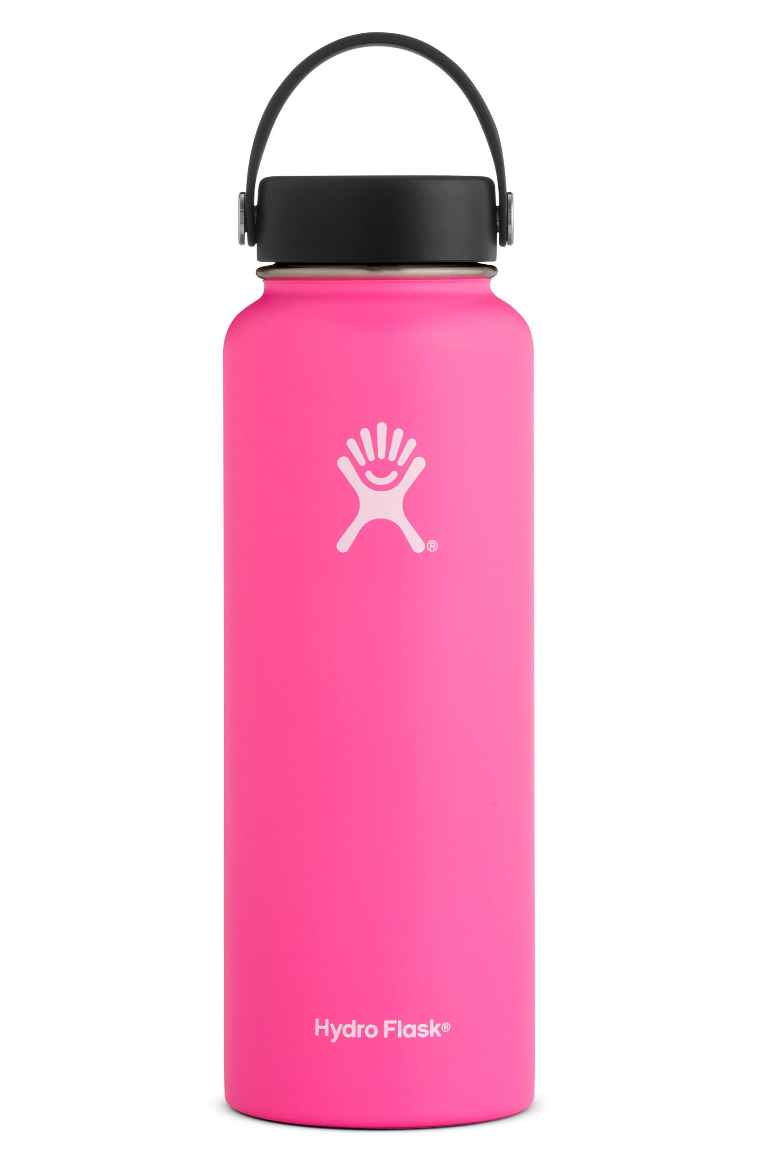 40-Ounce Wide Mouth Cap Bottle,                             Main thumbnail 1, color,                             Flamingo