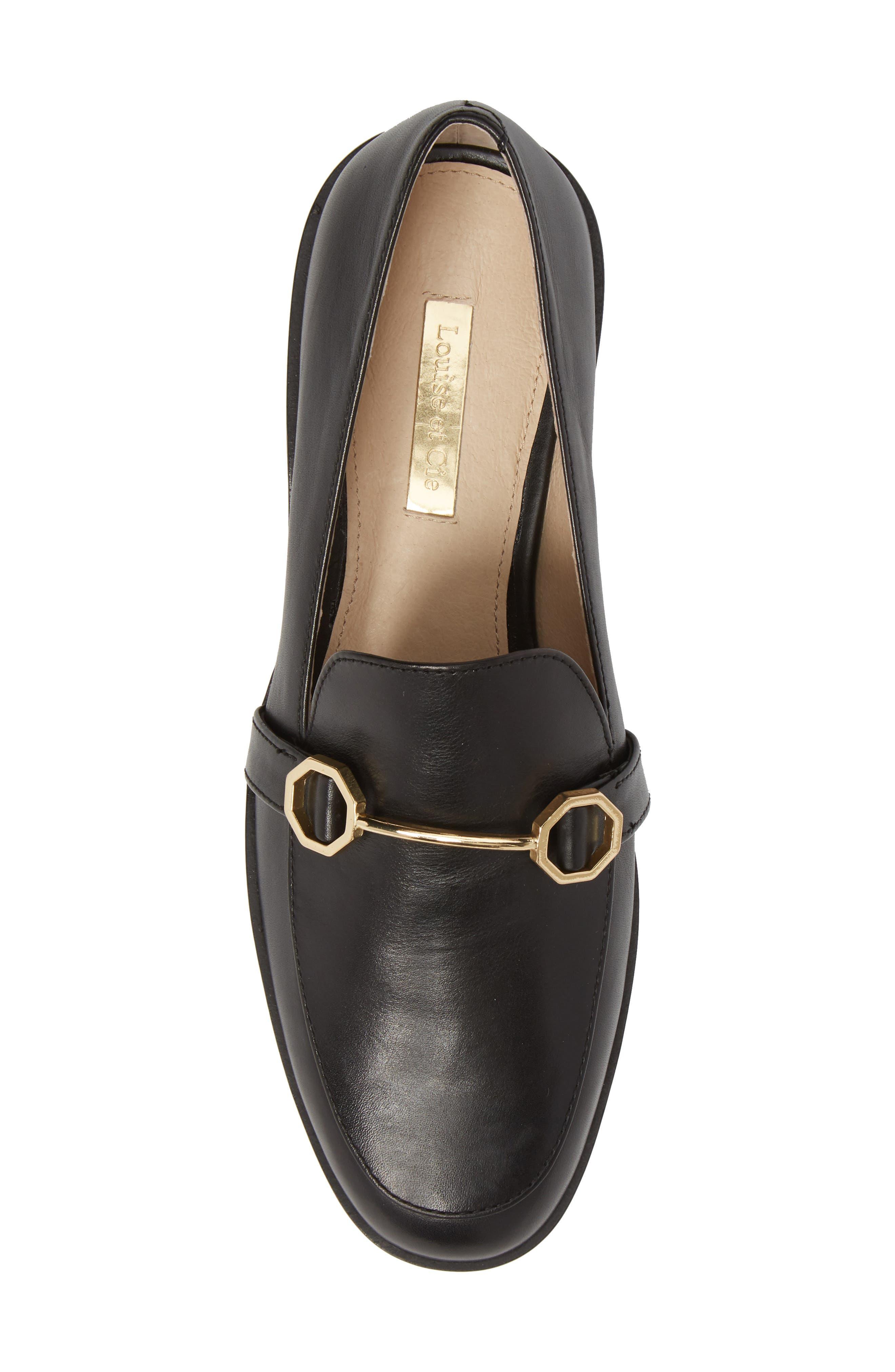 Bayne Loafer,                             Alternate thumbnail 5, color,                             Black Leather